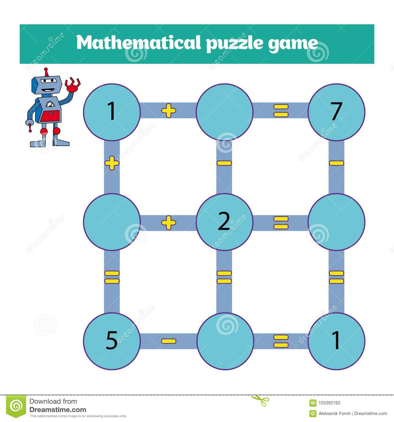 Mathematical Puzzle Game. Learning Mathematics, Tasks For Addition ...