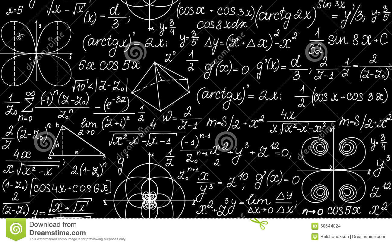 mathematical vector seamless pattern with geometrical