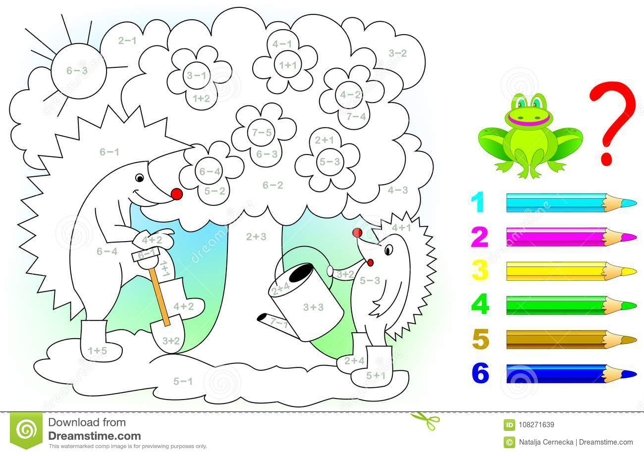 Mathematical Worksheet For Children On Addition And Subtraction