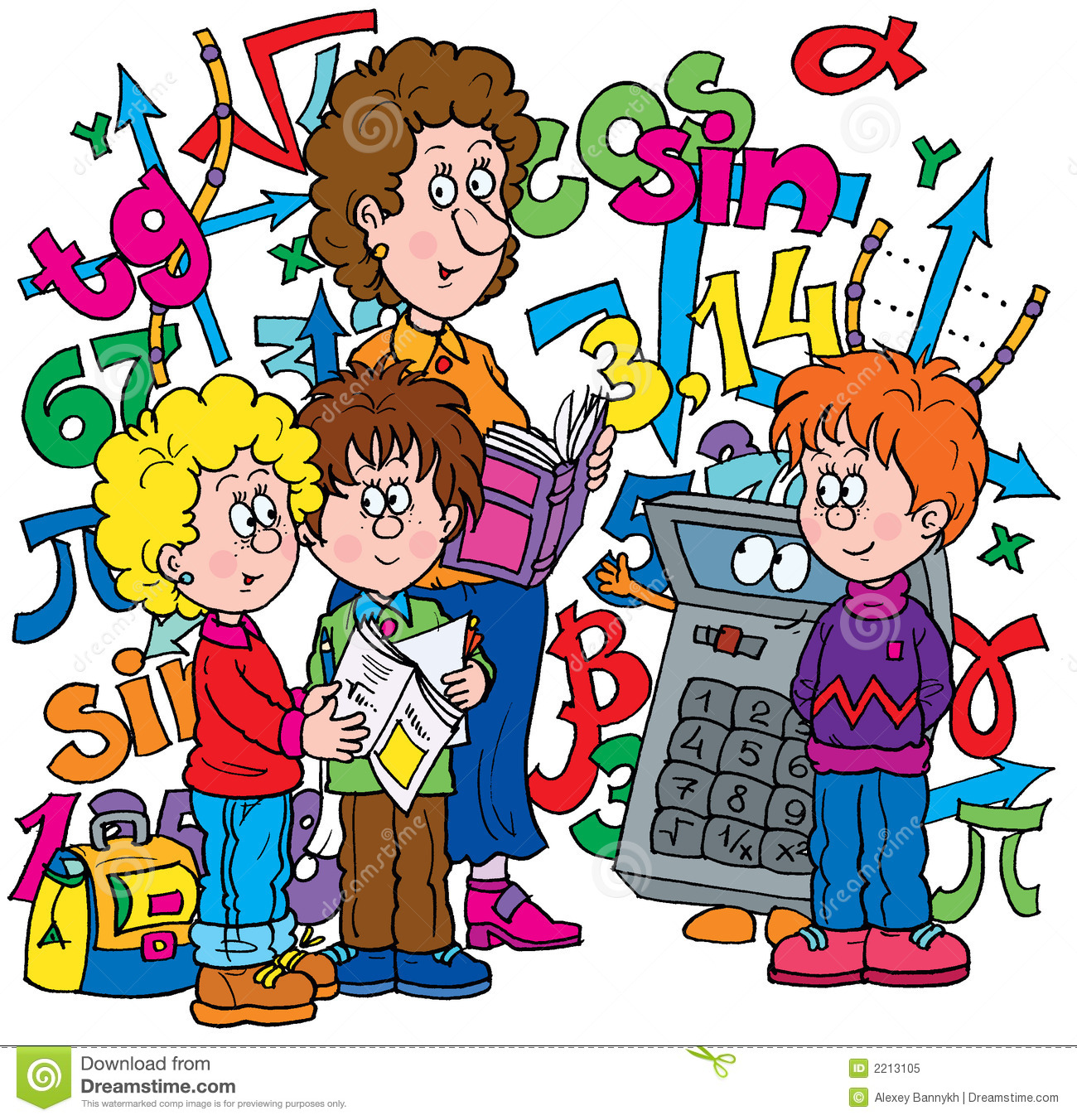 Young Children Learning Clip Art