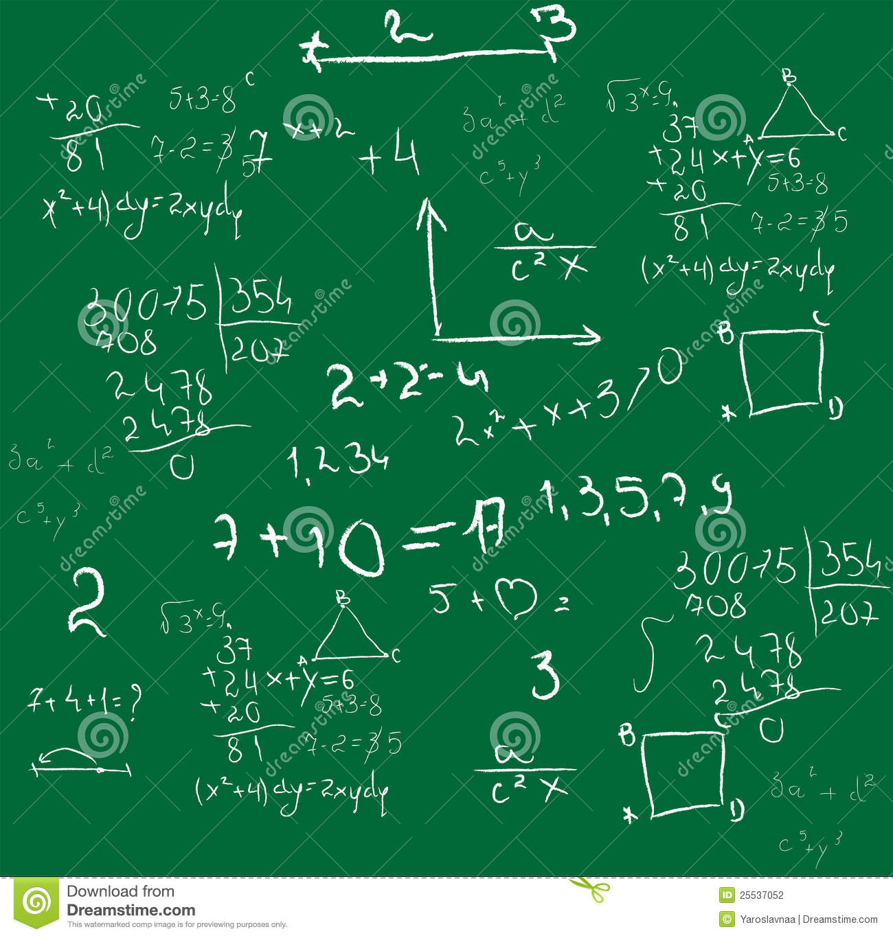 Mathematics Background Vector Stock Photography - Image: 25537052