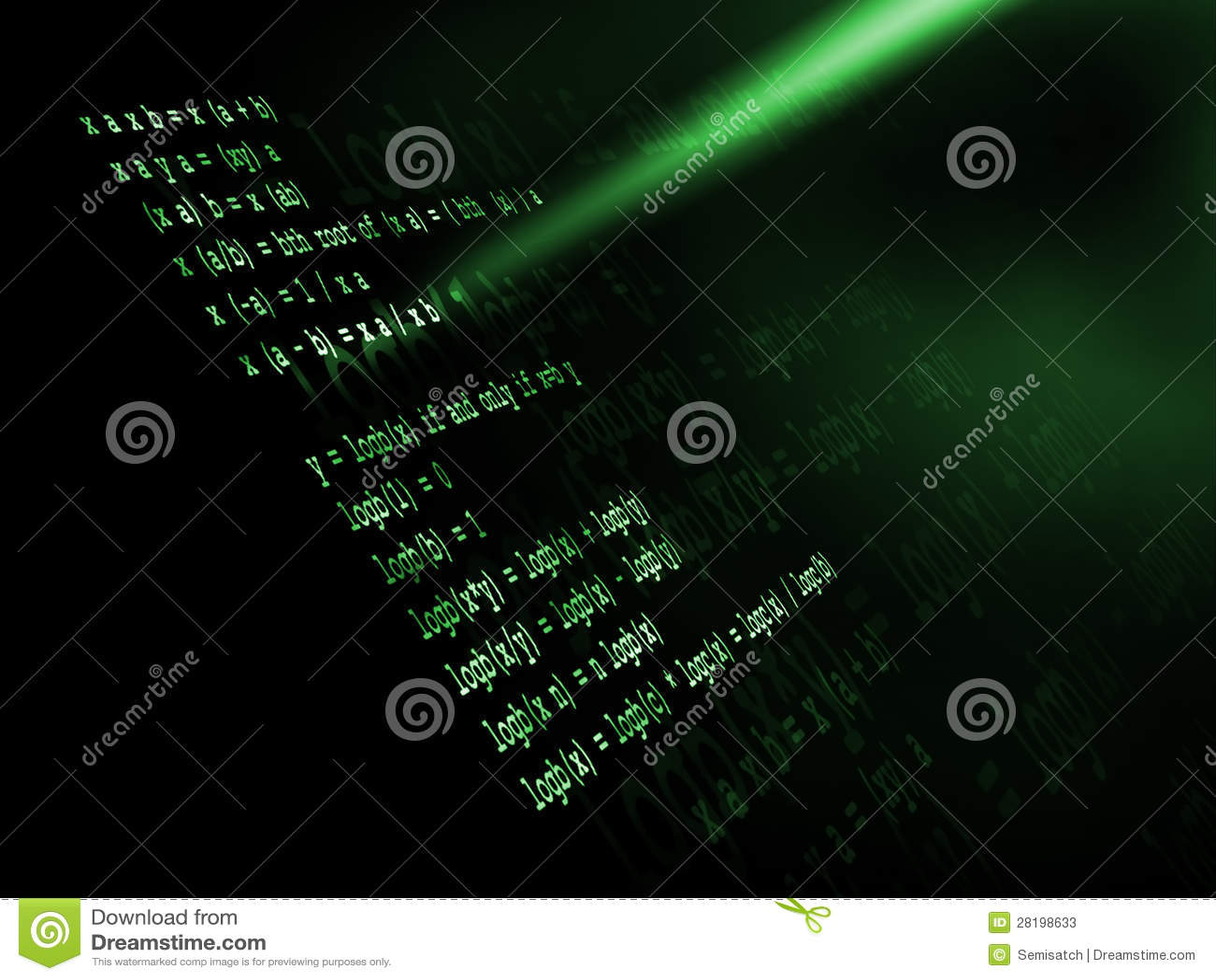 mathematics formula stock  image