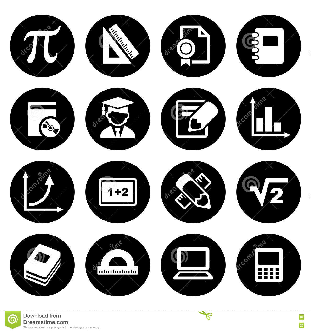 Mathematics vector icons 2 stock image image of calculator 69819341 mathematics icons set stock images buycottarizona Image collections