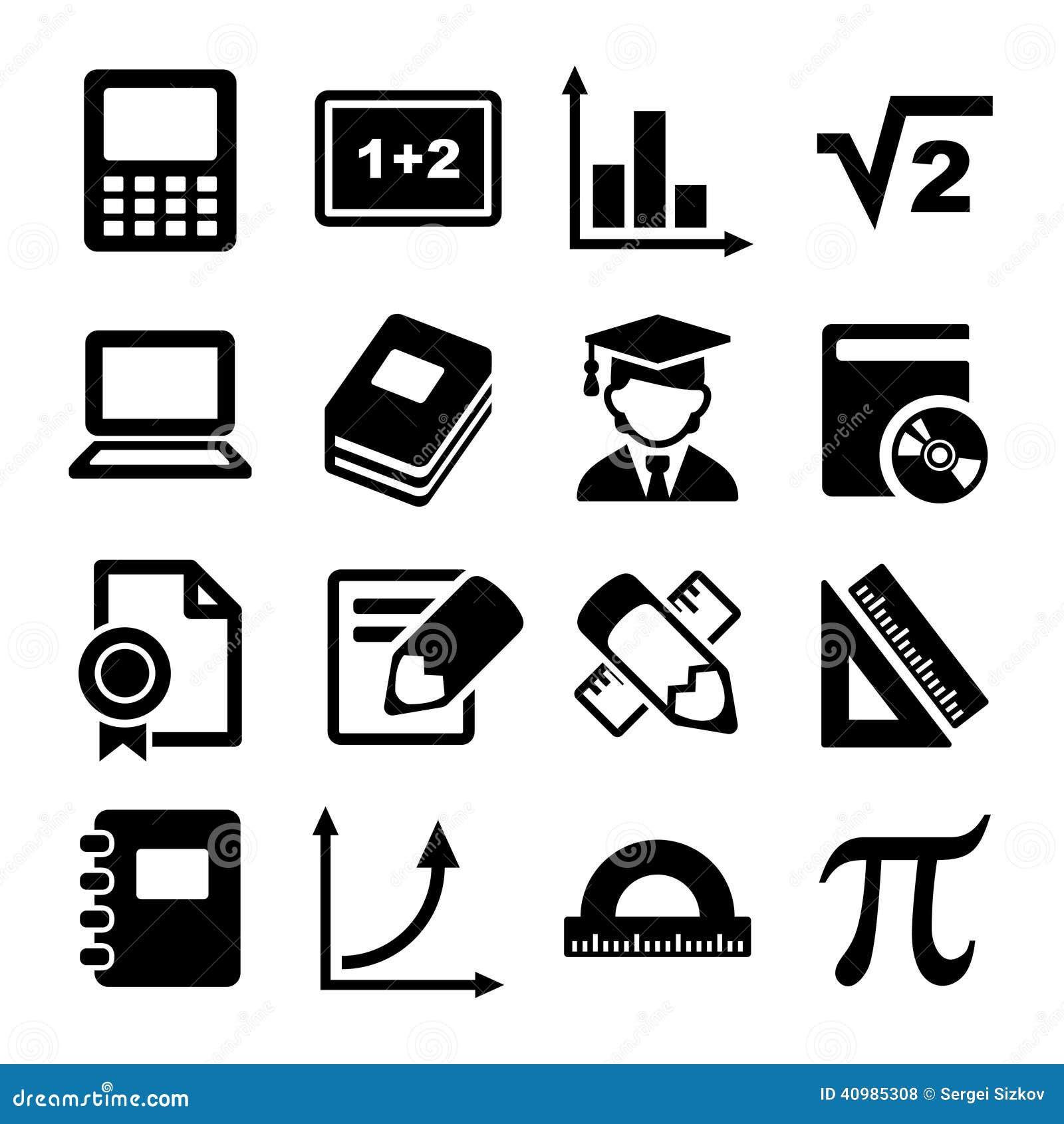Mathematics vector icons 2 stock image image of calculator 69819341 mathematics icons set royalty free stock photos buycottarizona Image collections