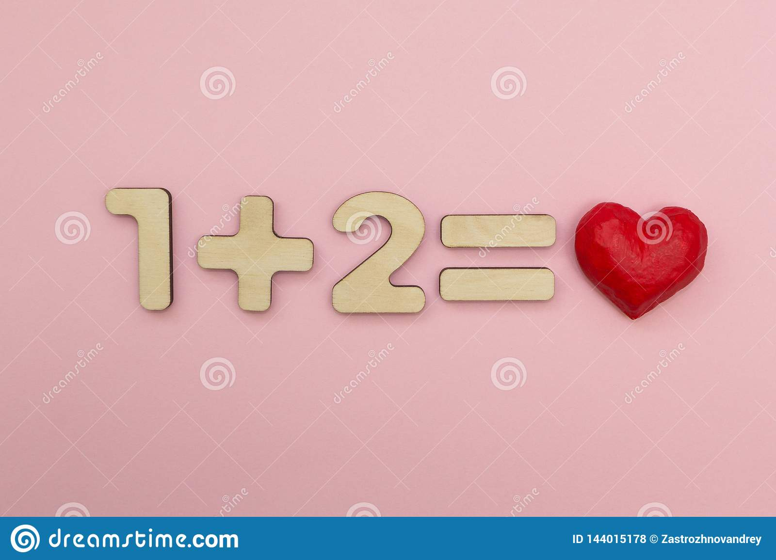 The Mathematics of Love. One plus two equals the heart