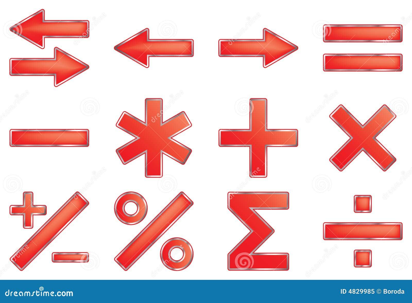 Mathematische Symbole.