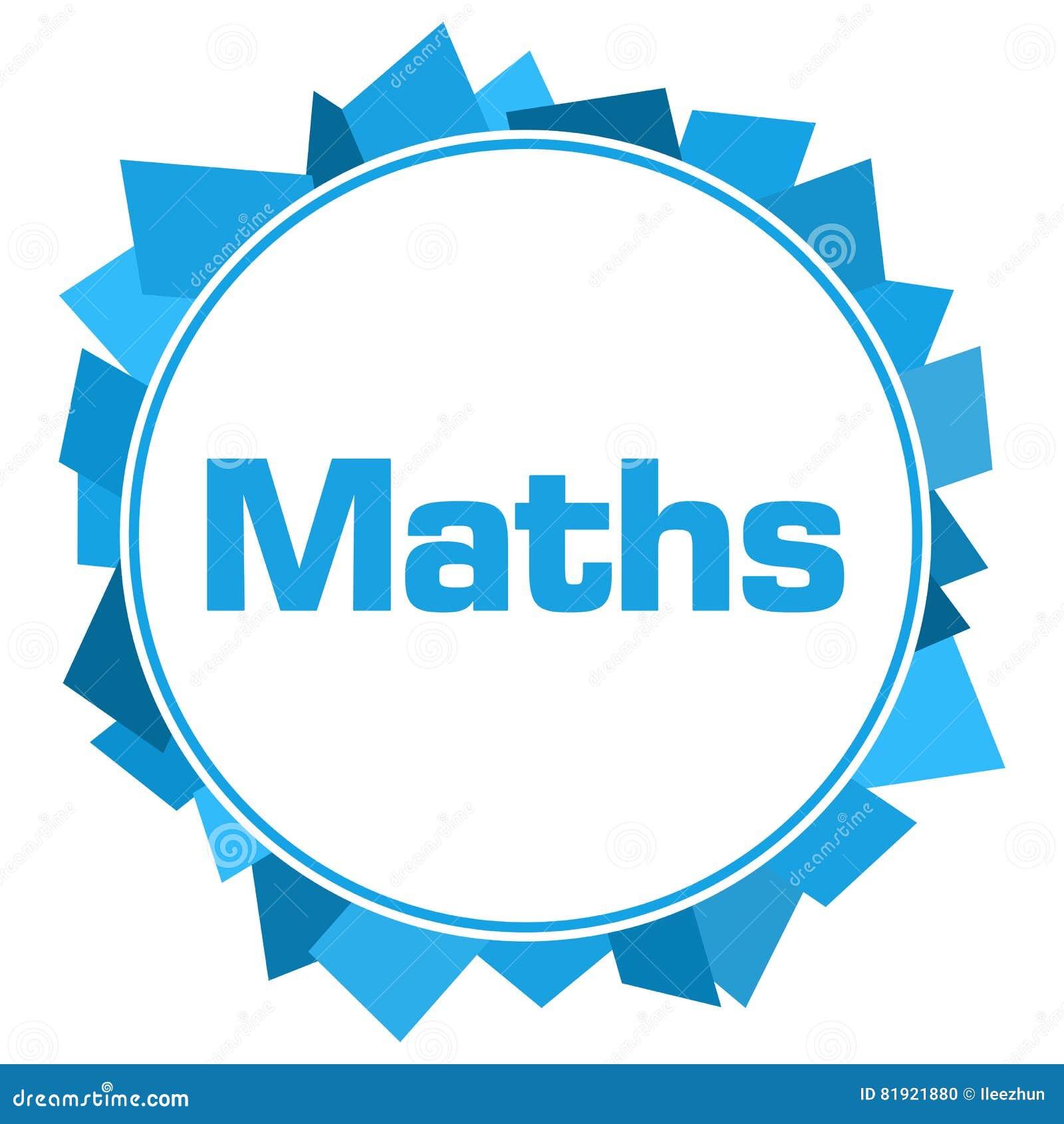 Maths Blue Random Shapes Circle Stock Illustration - Illustration of ...