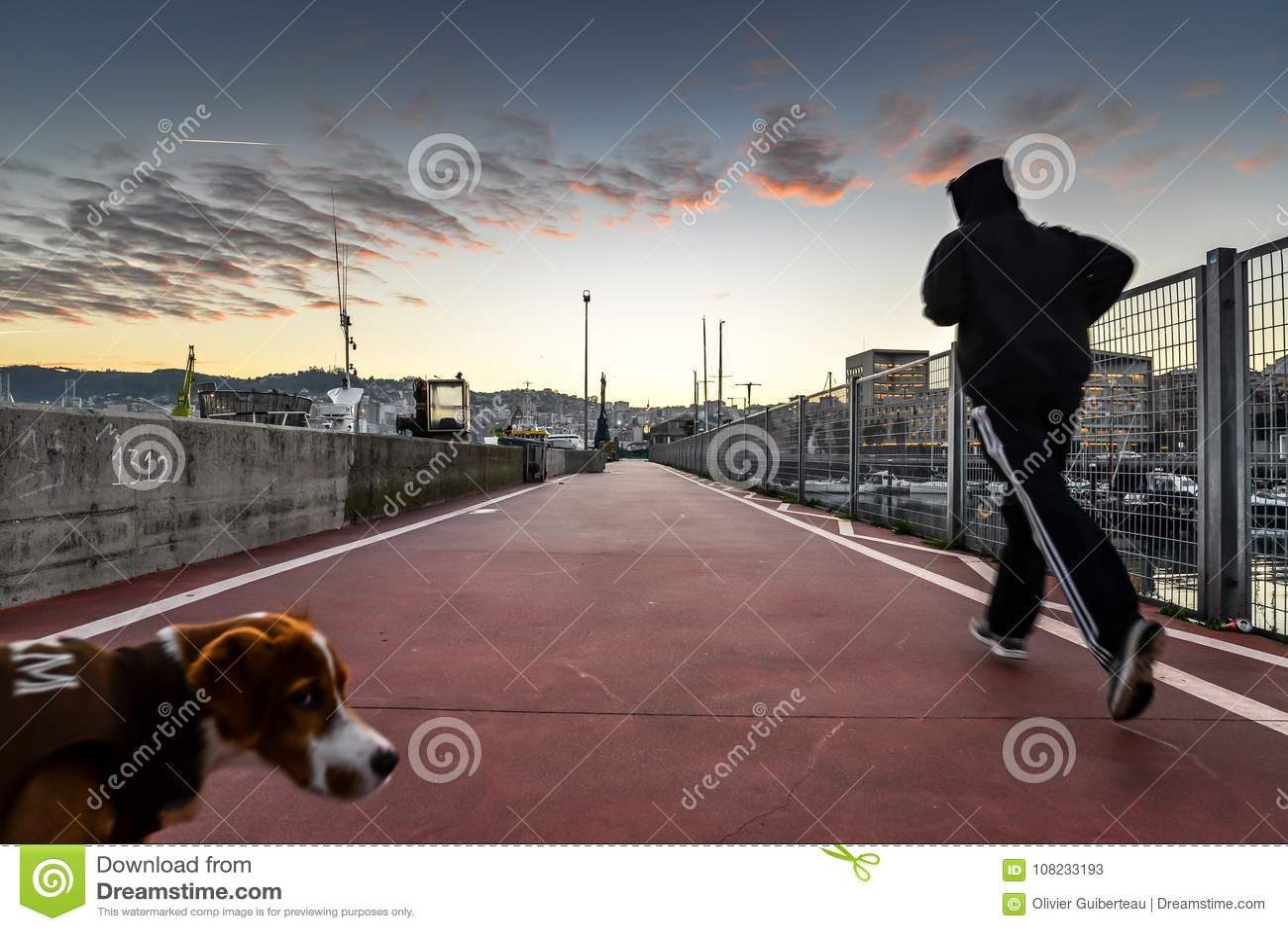 Matin couru à Vigo - en Espagne