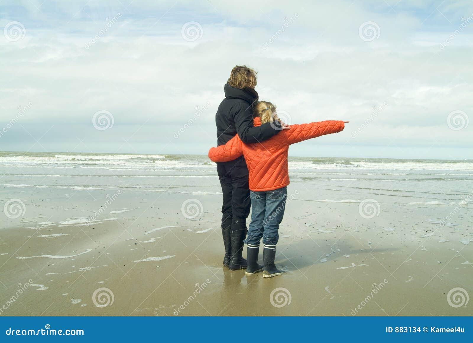 Matka córki plażowa