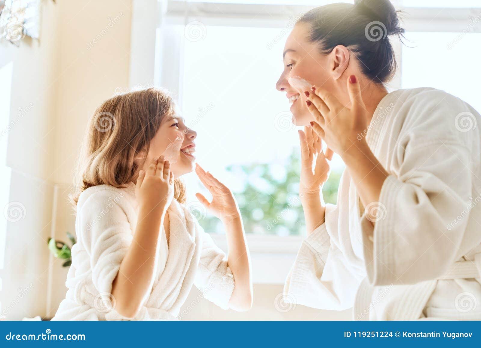 Matki i córki czułość dla skóry