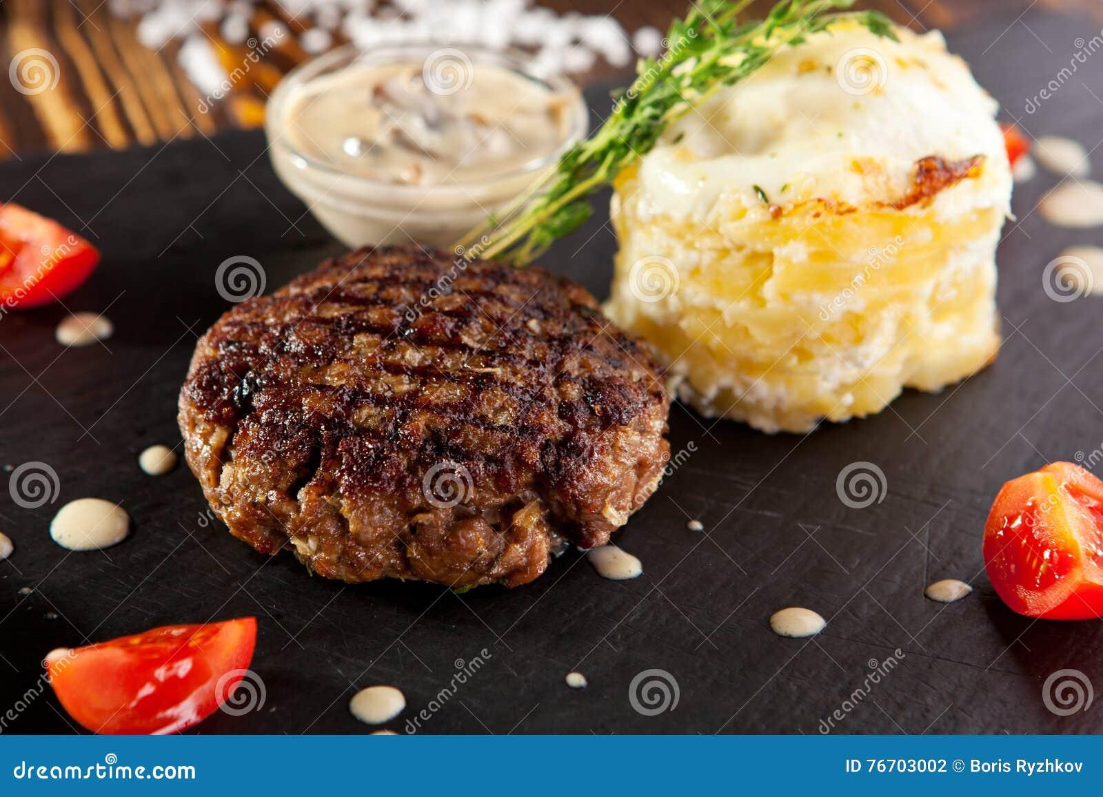 Maträtt för nötköttbiff