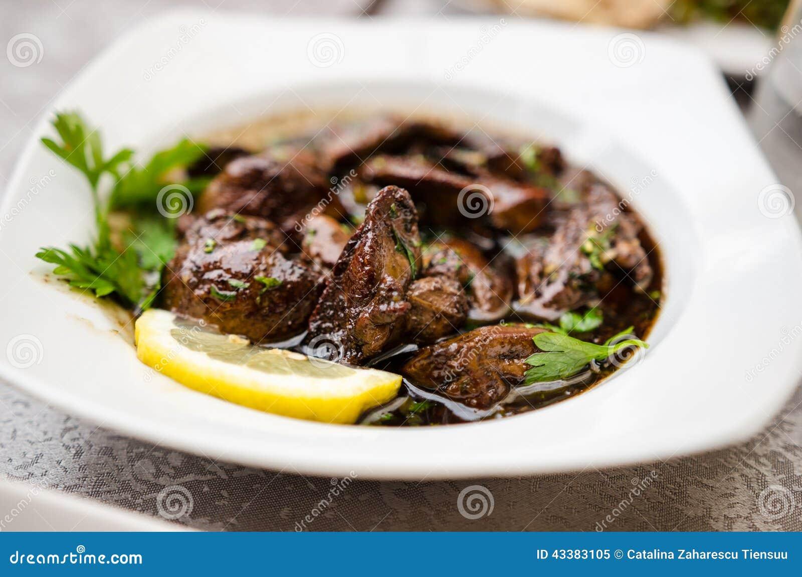 Maträtt Sawda Djej- för feg lever