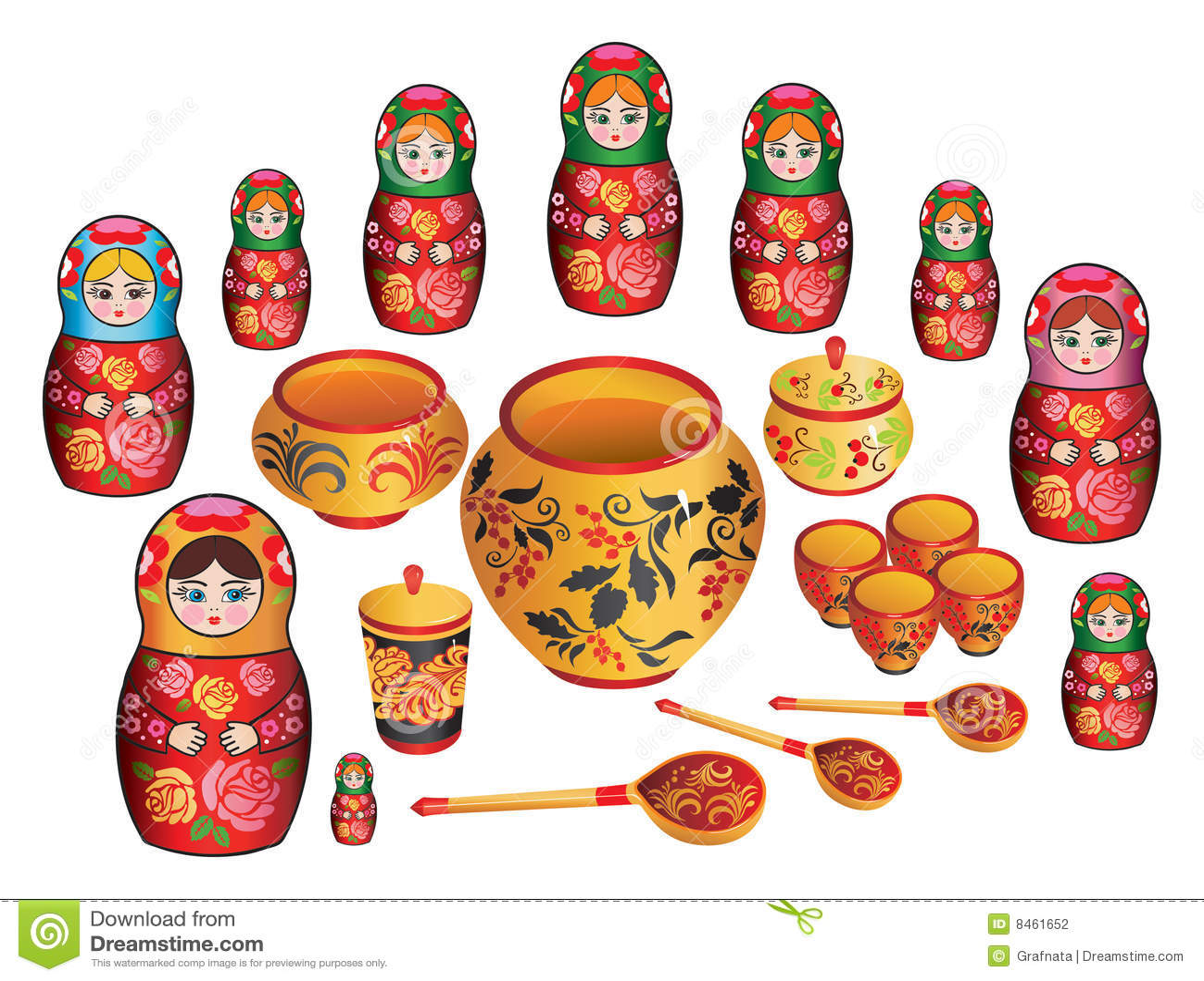 Matreshka målade ryssware