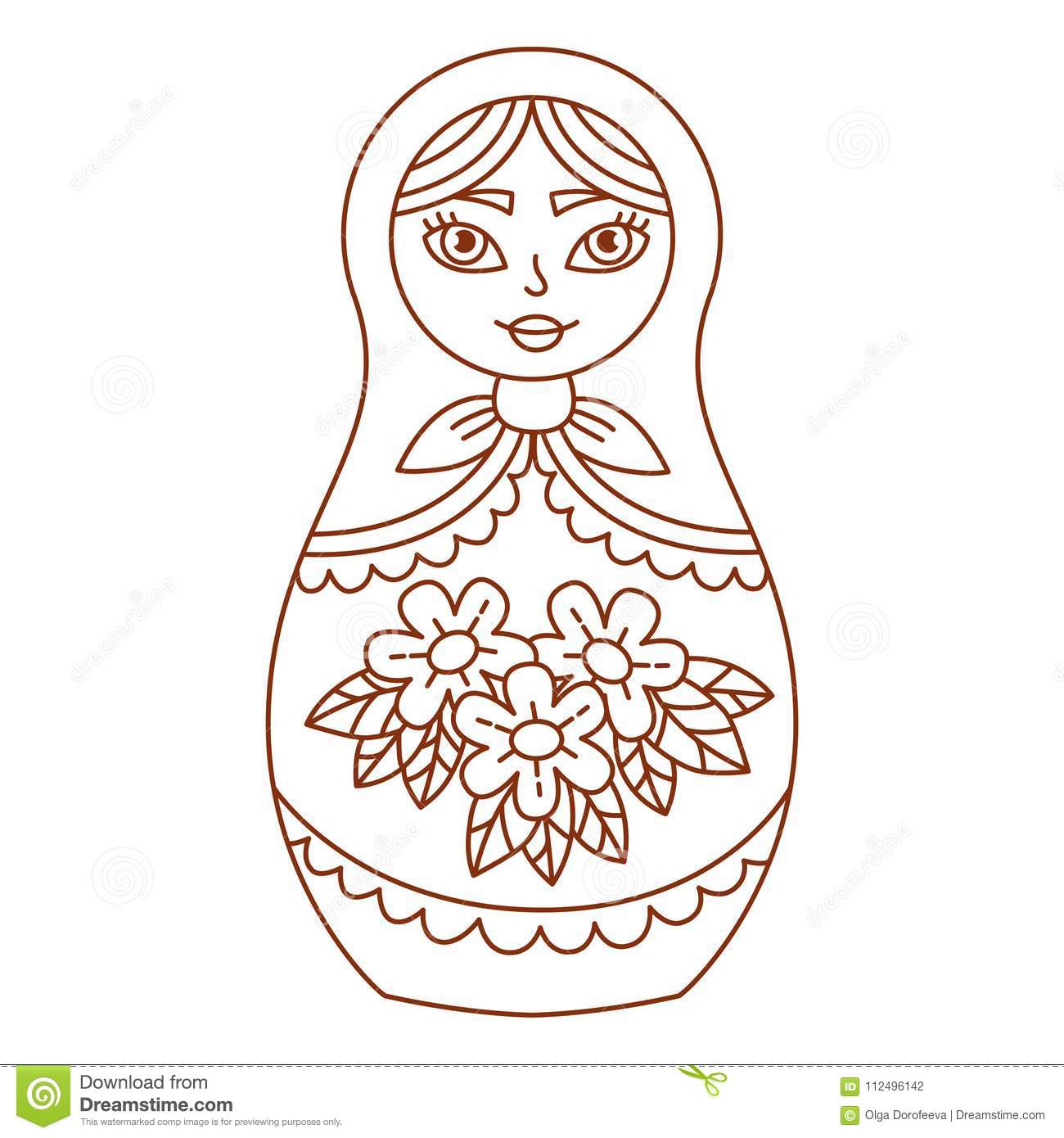 russian christmas coloring pages matryoshka laura doll with page 11