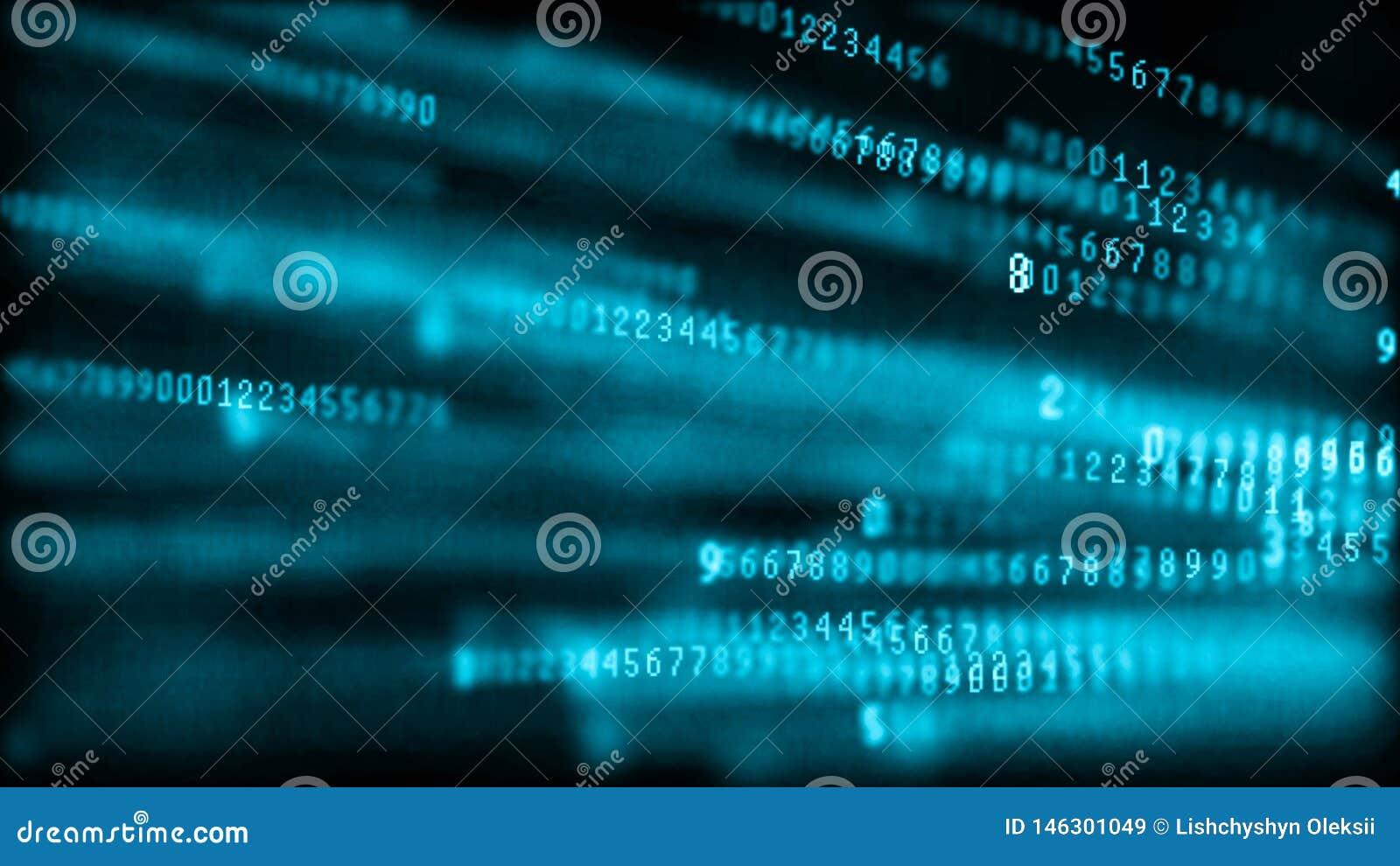 Matrice de fond de Digital Code machine binaire Concept de pirate informatique rendu 3d