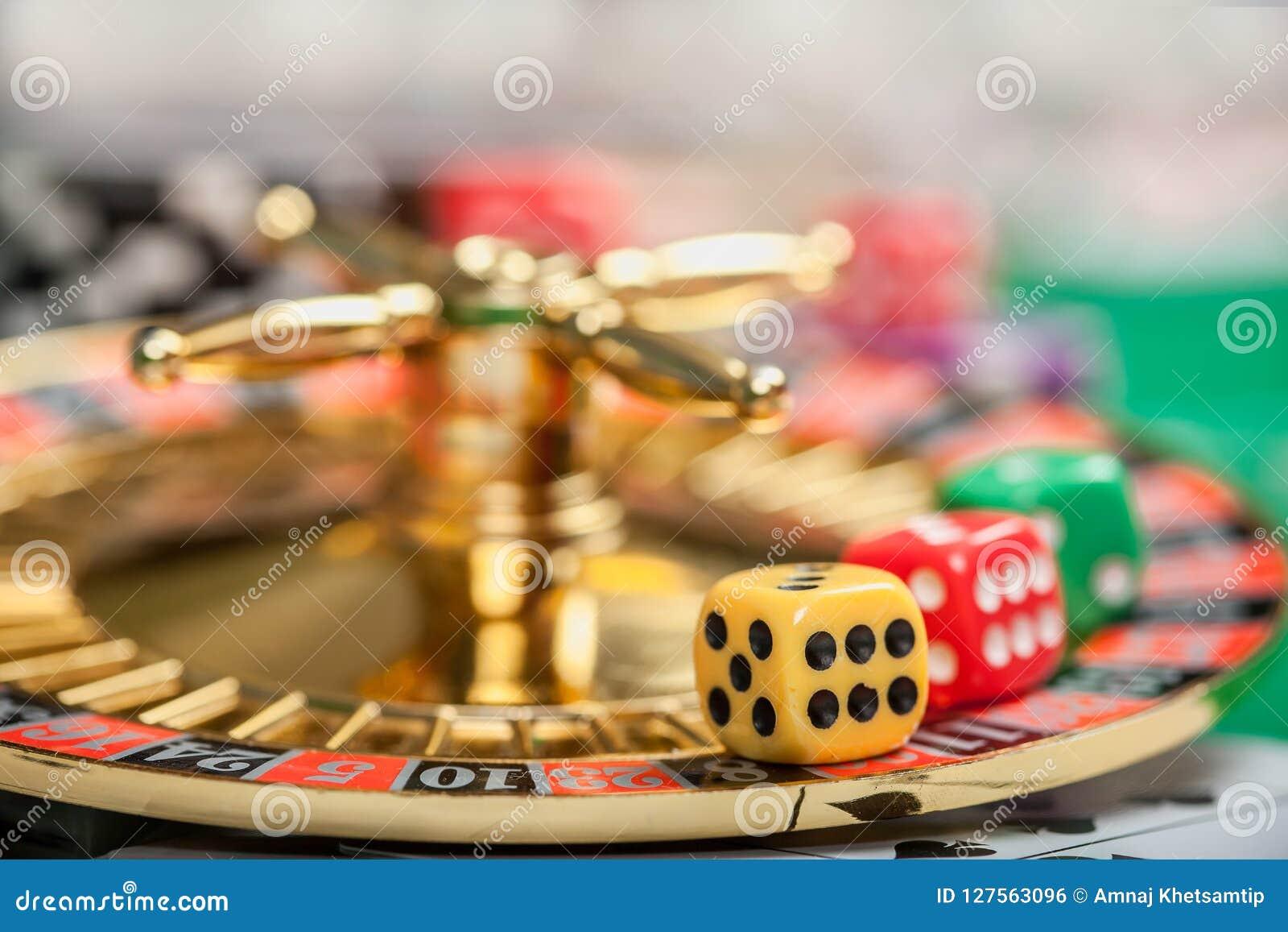 Matrices sur la table de jeu de casino