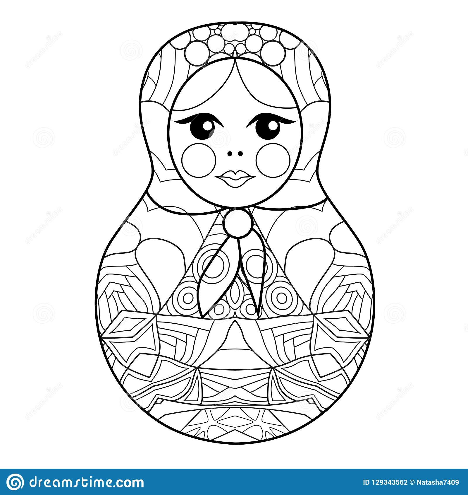 Best Russian Dolls Adult Coloring Pages Printable | 1690x1600
