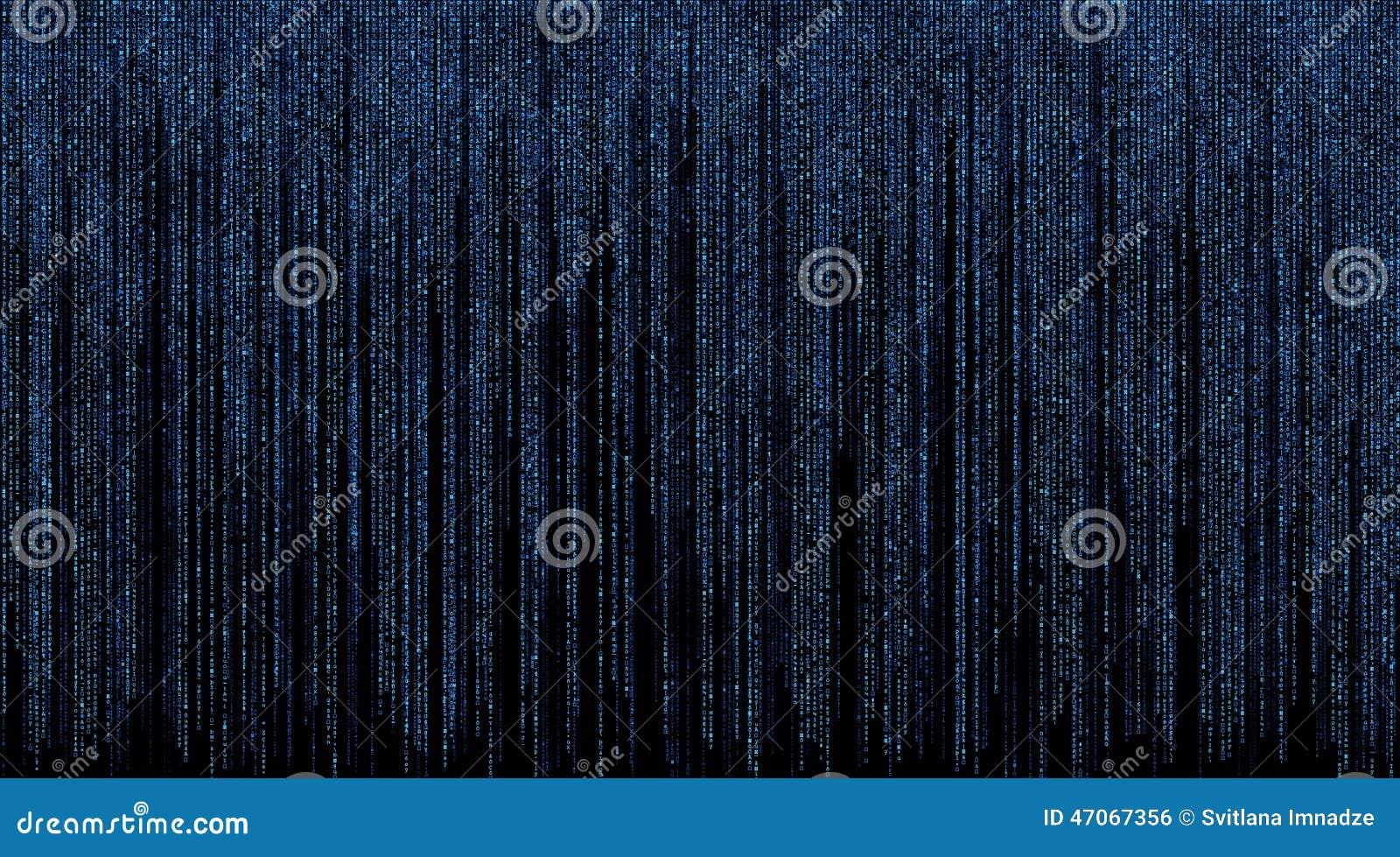 Matrix avec le fond bleu de symboles