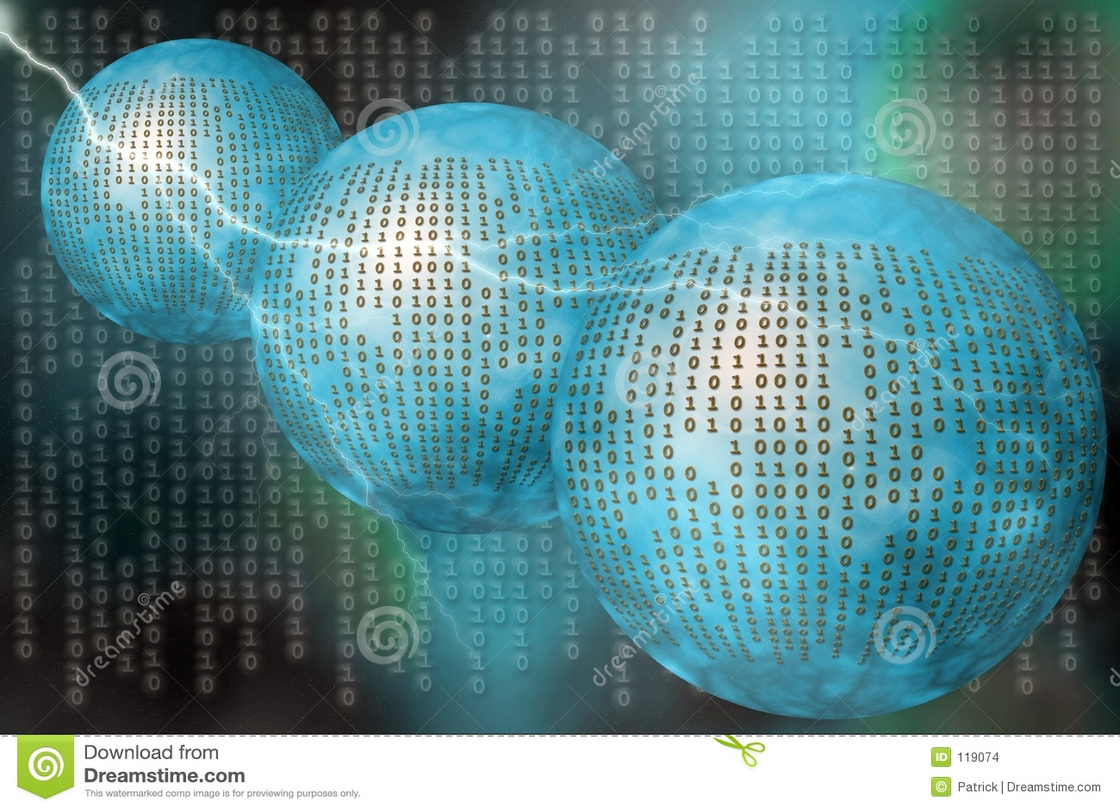 Matrix, binary code.