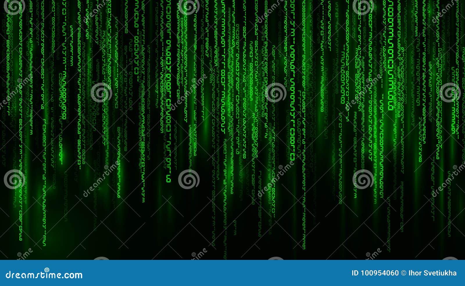 Matrix. Falling Numbers. Vector Background Stock Vector ...