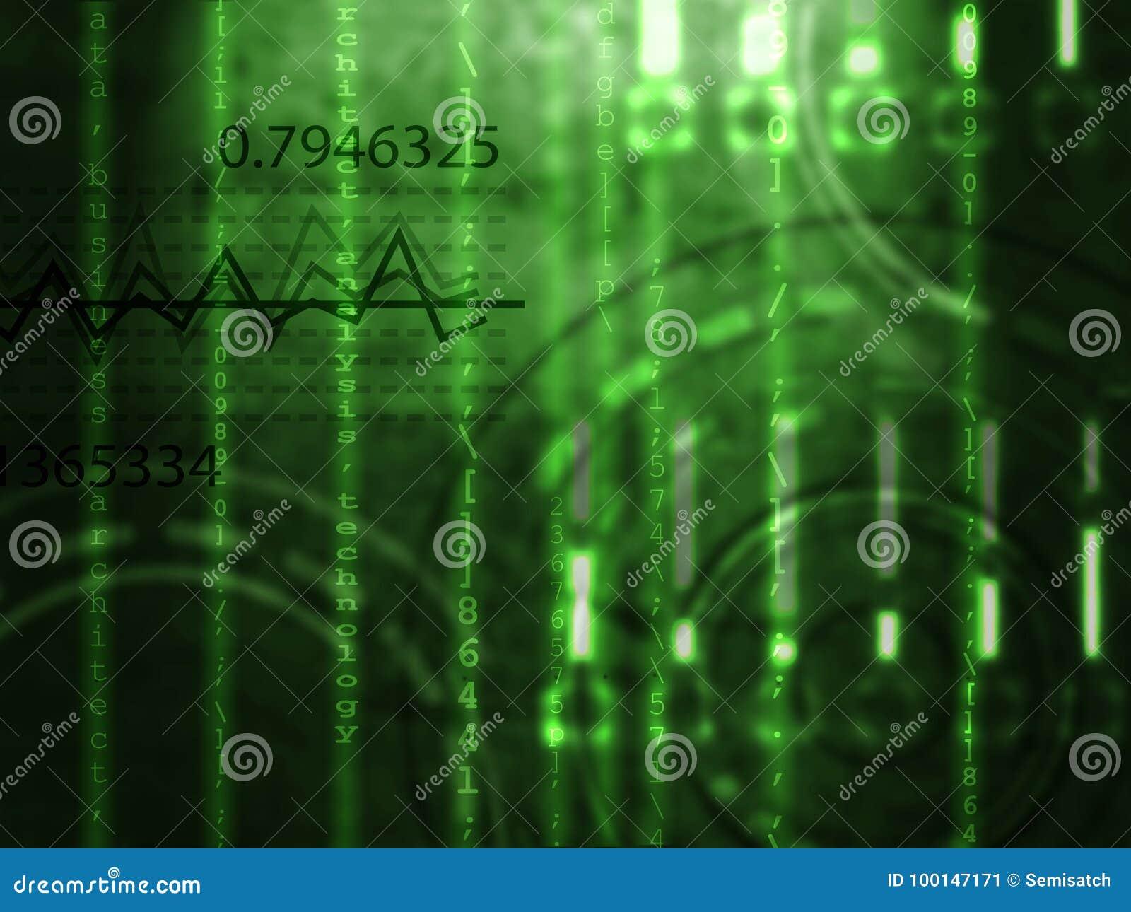 Matrix Style Numbers Background Stock Illustration - Illustration of ...