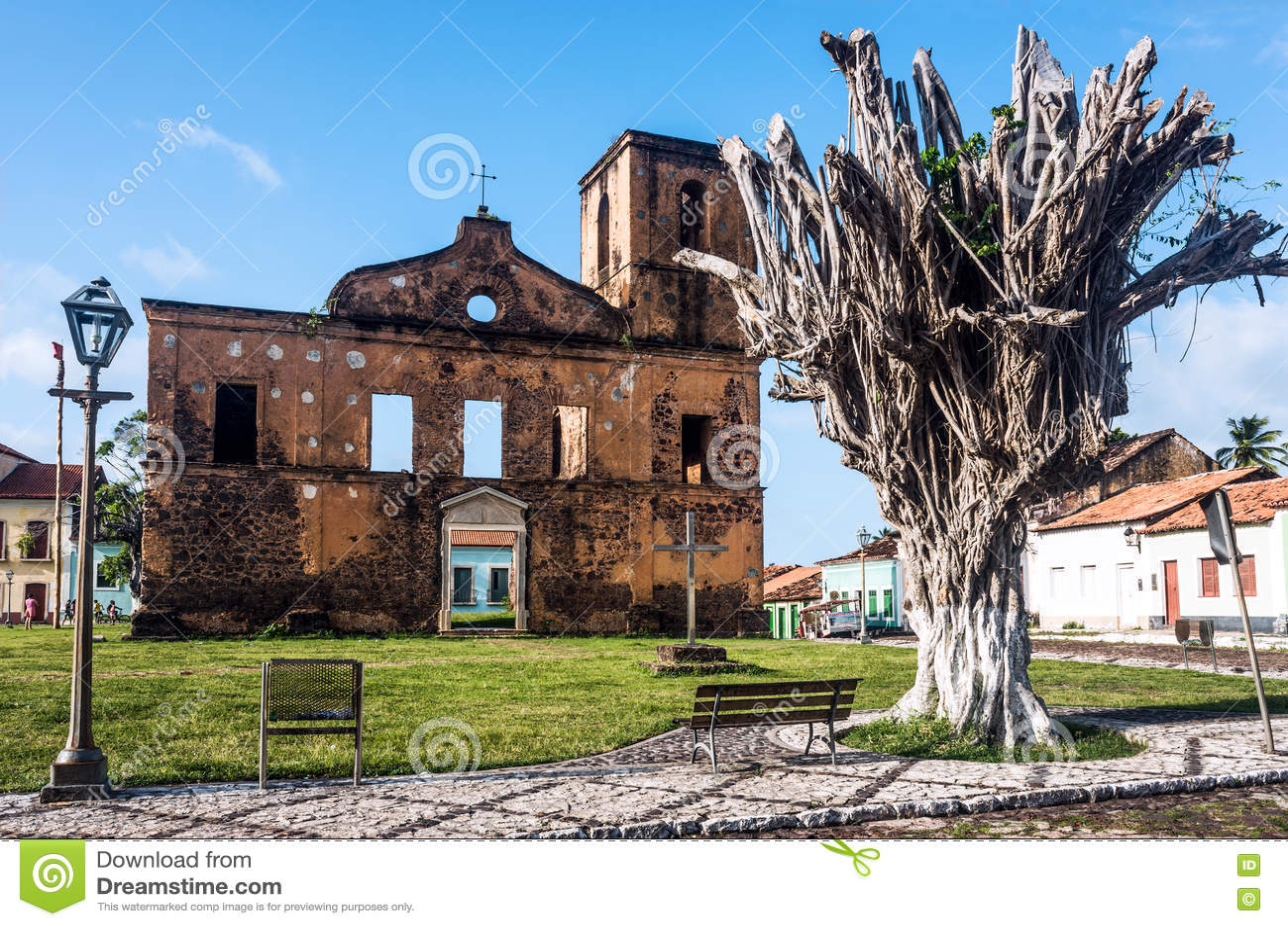 Matriz Church ruins in the historic city of Alcantara
