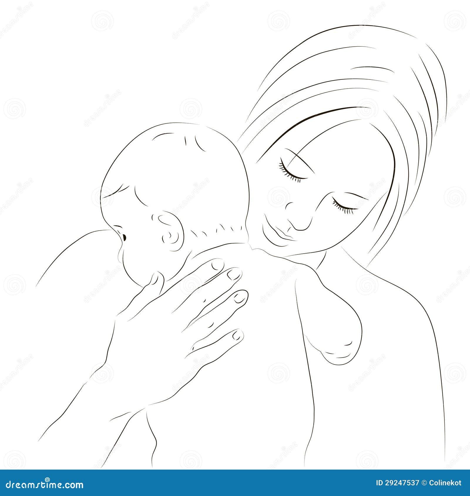 Download Matriz E Esboço Recém-nascido Ilustração do Vetor - Ilustração de matriz, família: 29247537
