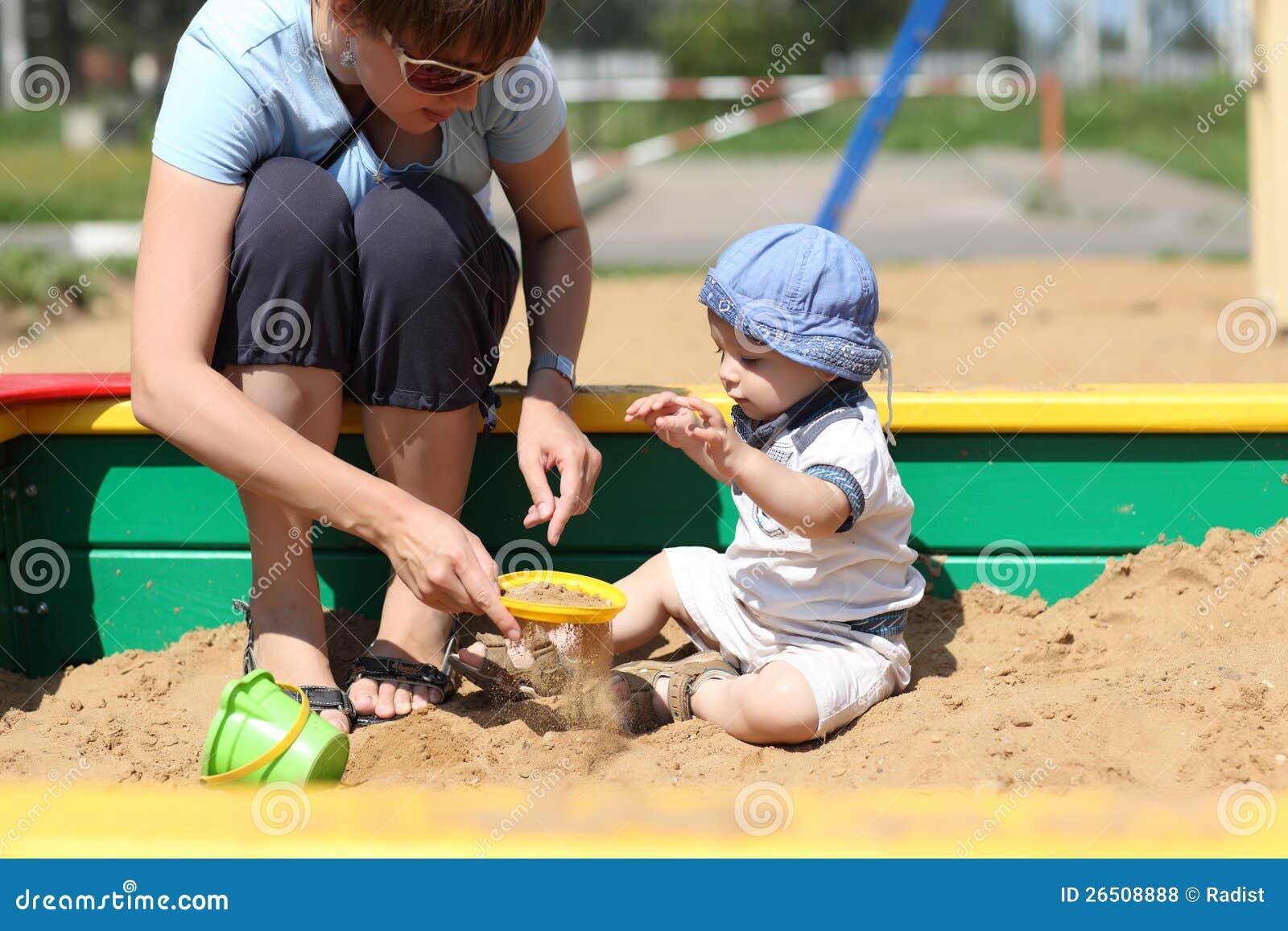 Matriz e sua areia sifted filho