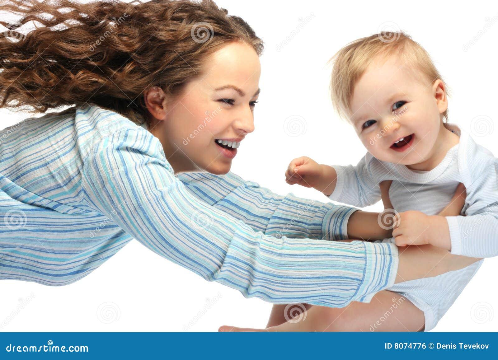 Matriz feliz com filho