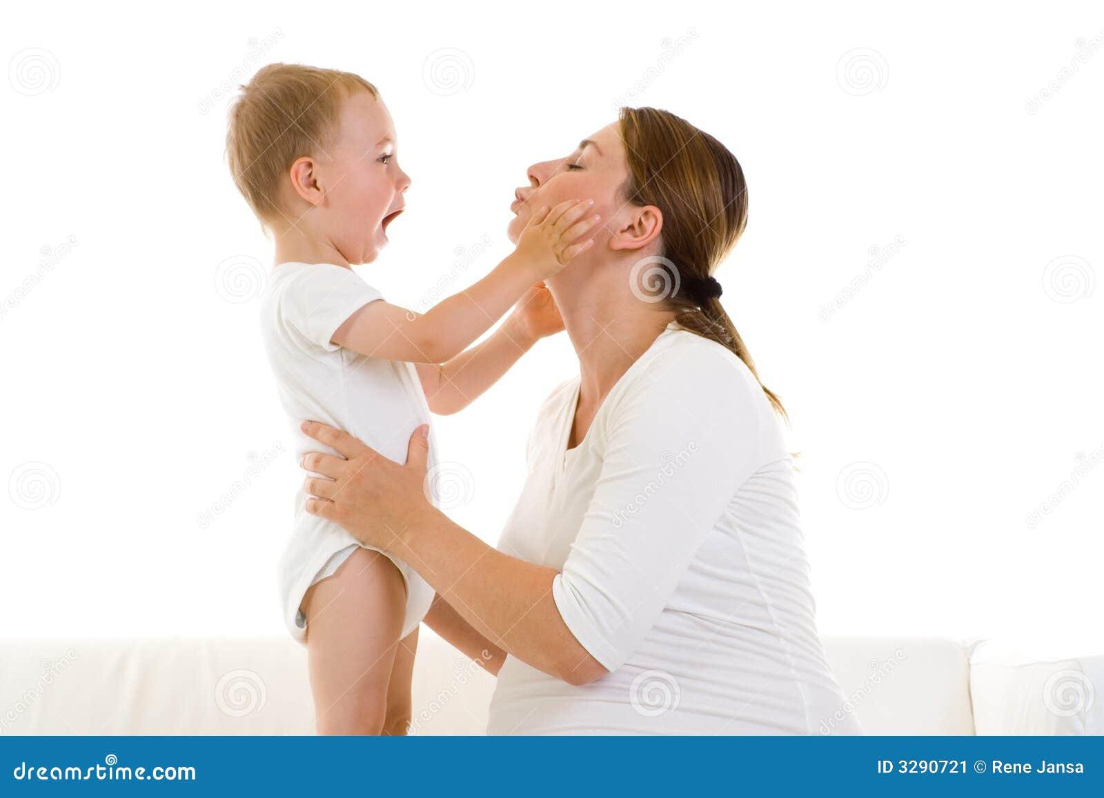 Matriz grávida com filho