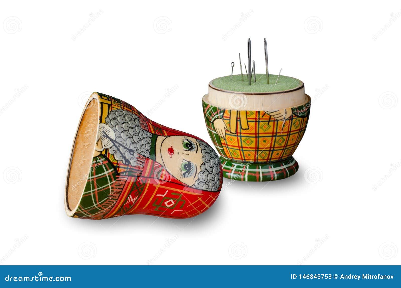 Matryoshka玩偶针垫 缝纫针 ??