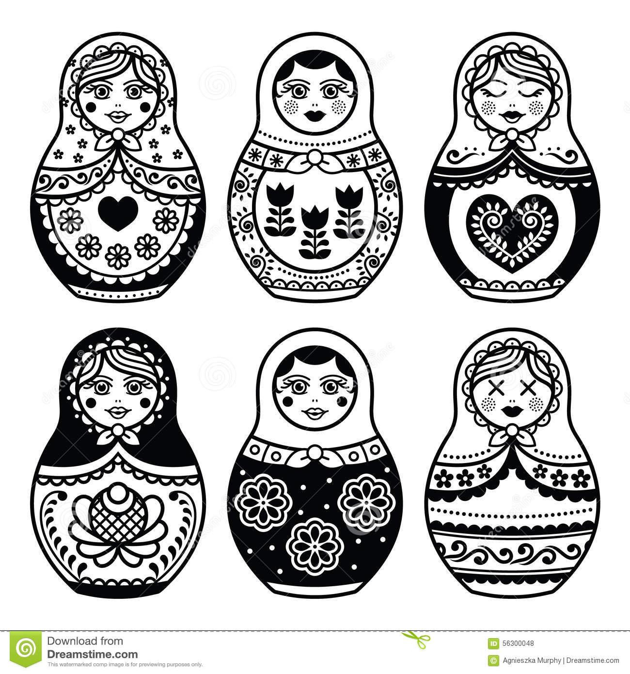 matryoshka russian doll icons set stock illustration illustration of europe figure 56300048. Black Bedroom Furniture Sets. Home Design Ideas