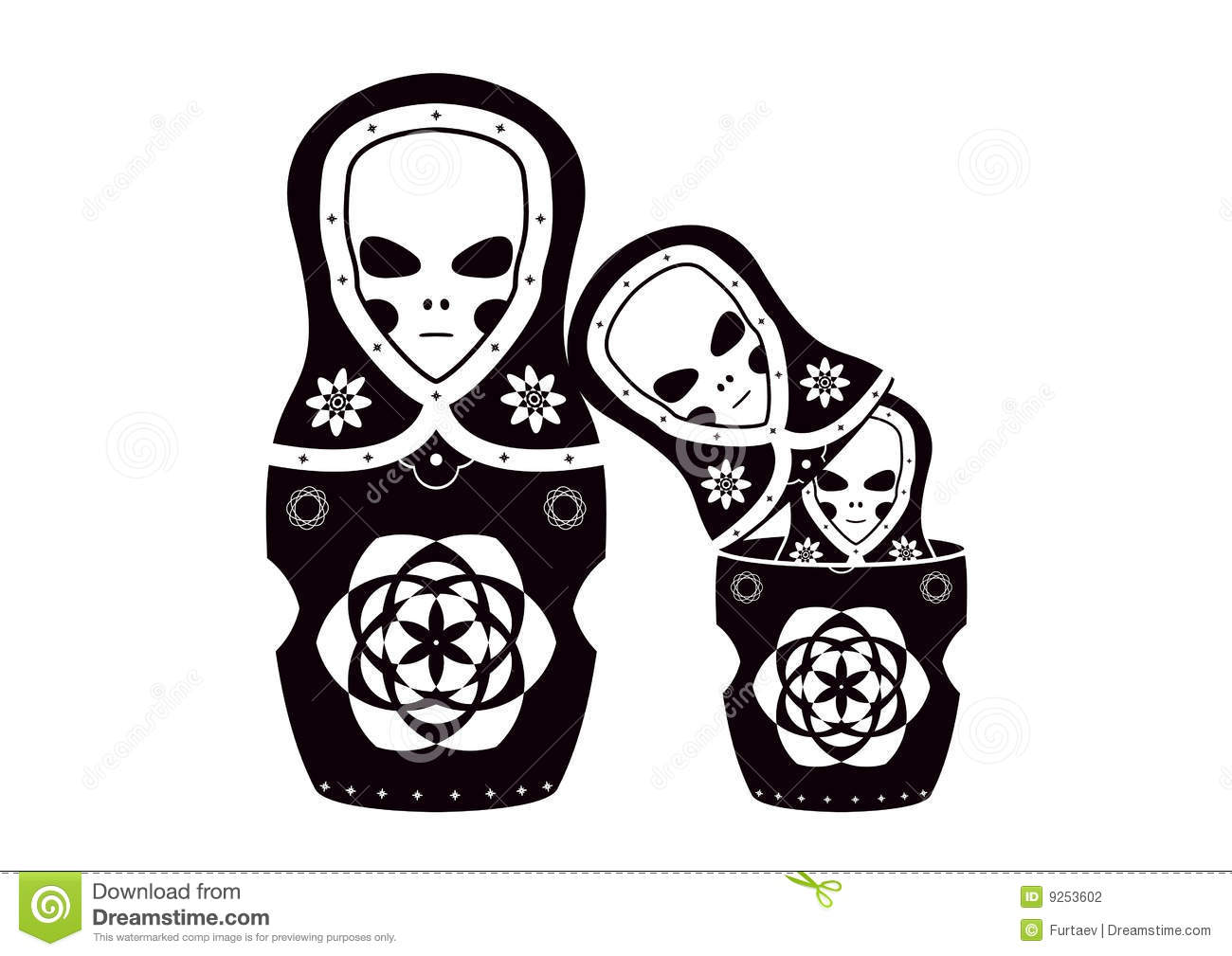 Matryoshka (russian Dolls) ET Family Stock Photography - Image ...