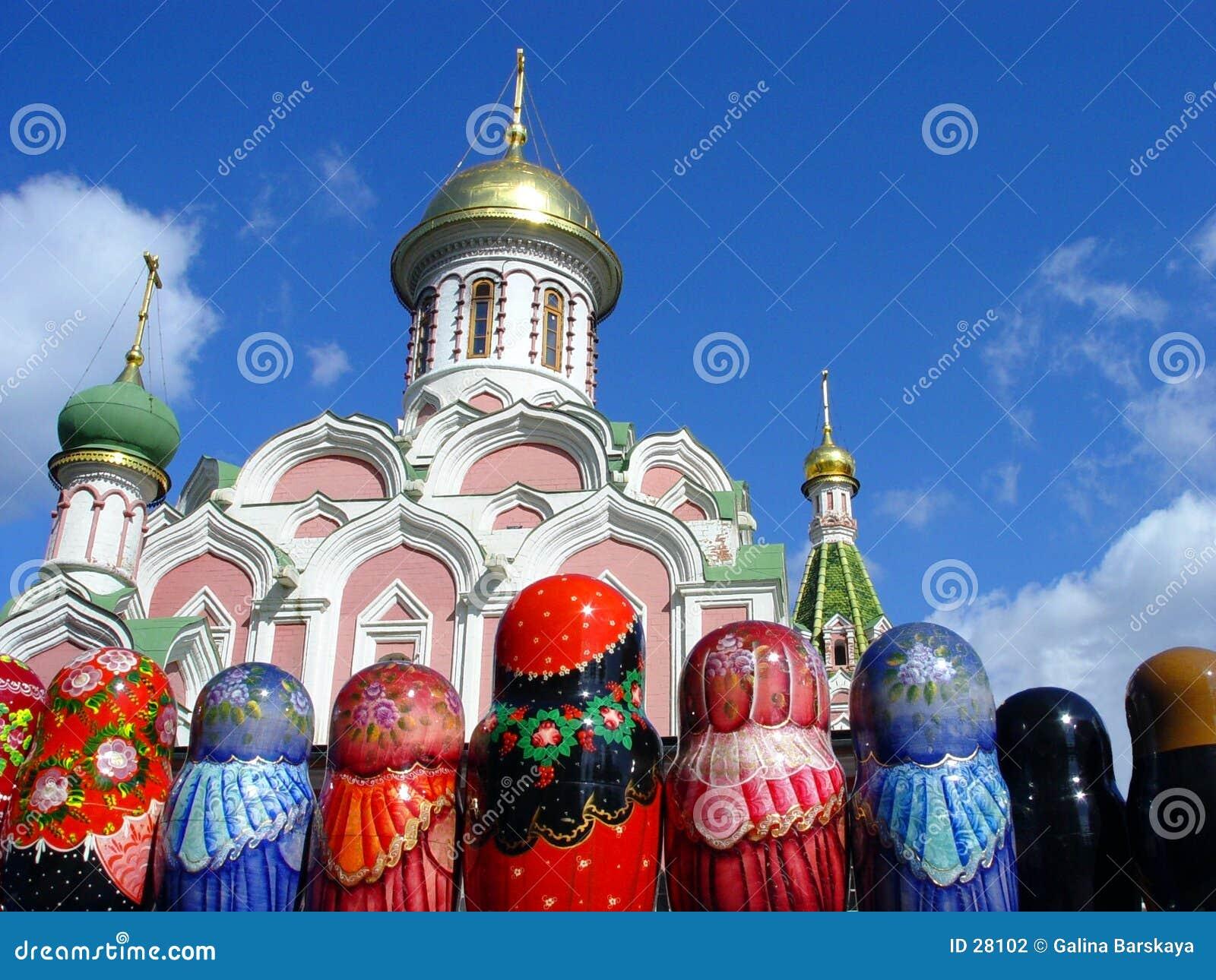 Matryoshkas en la Plaza Roja