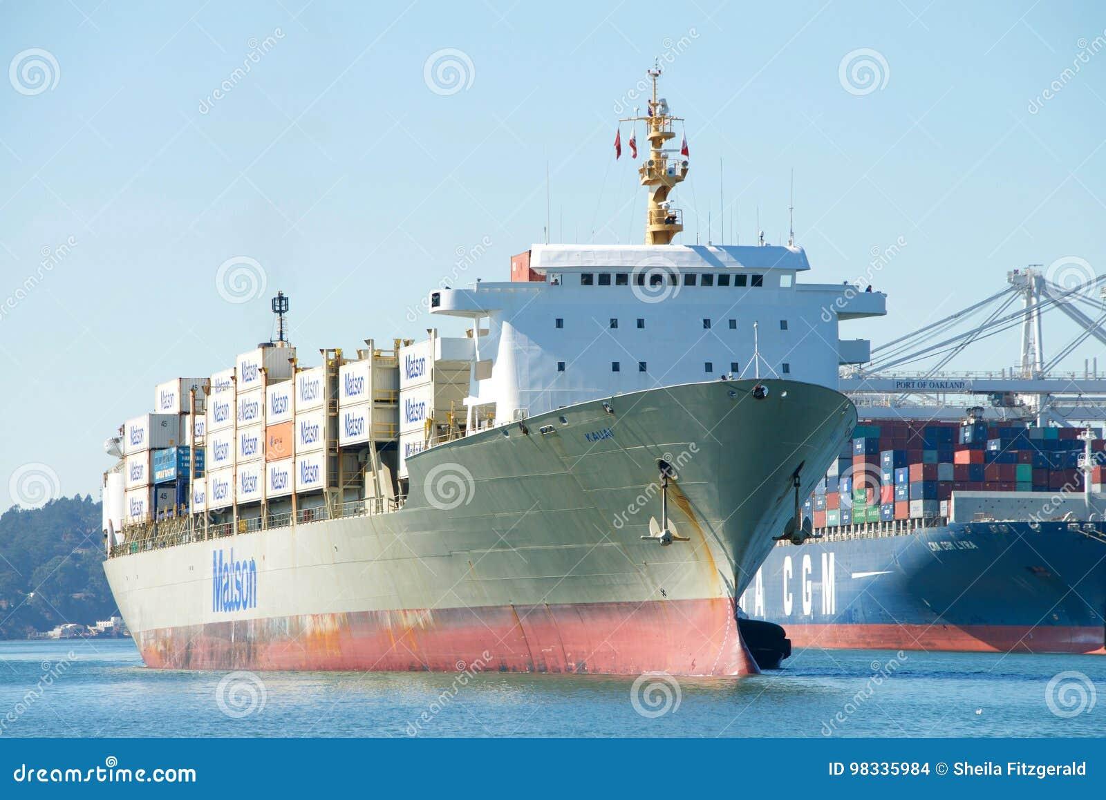 Matson Cargo Ship KAUAI Entering The Port Of Oakland