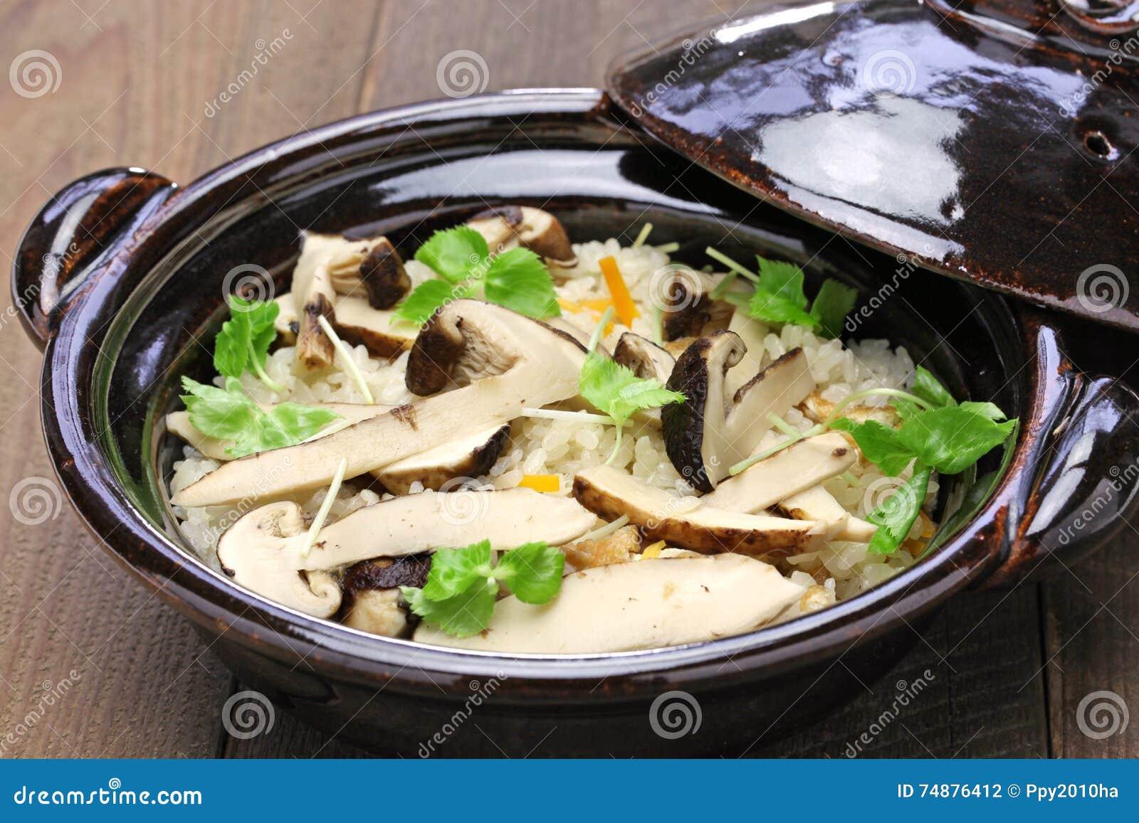 Matsutake gohan, arroz cozinhou com cogumelo do matsutake