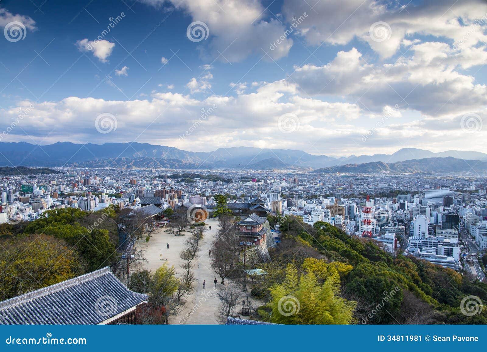 Matsuyama Japan  City pictures : Matsuyama, Japan from Matsuyama Castle.