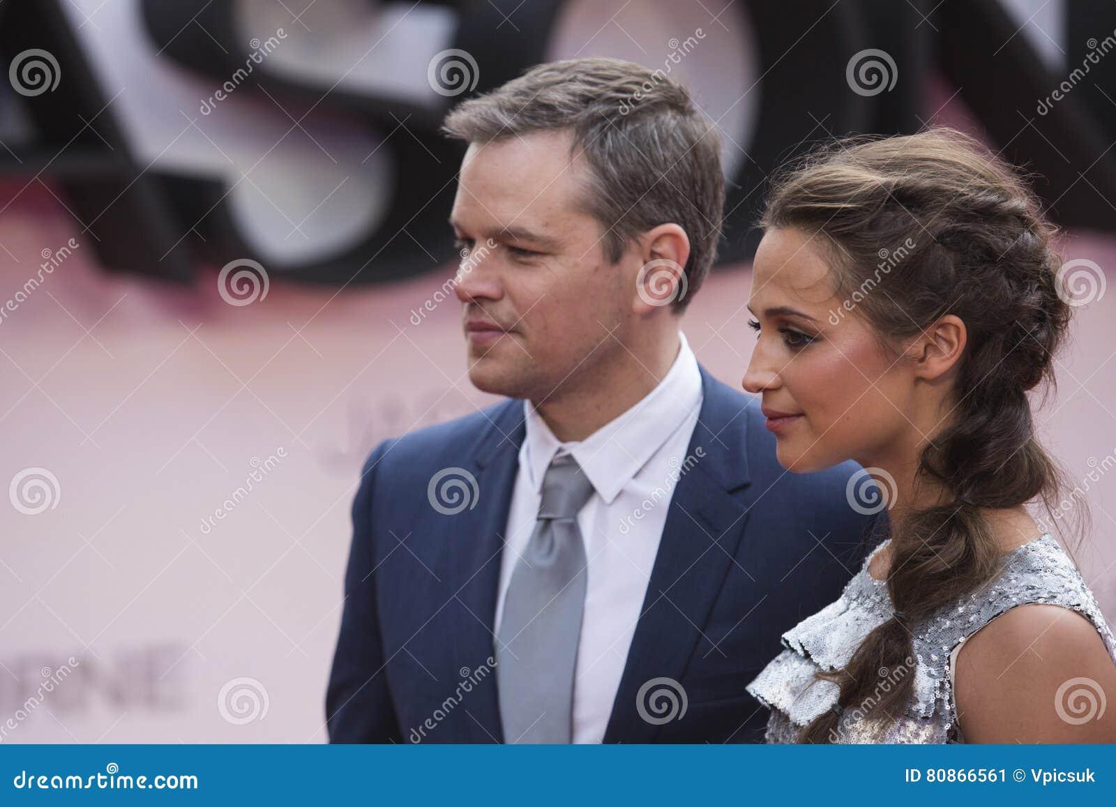 Matt Damon And Alicia Vikander Jason Bourne 2016 Film Premiere Editorial Photo Image Of Actress Jason 80866561