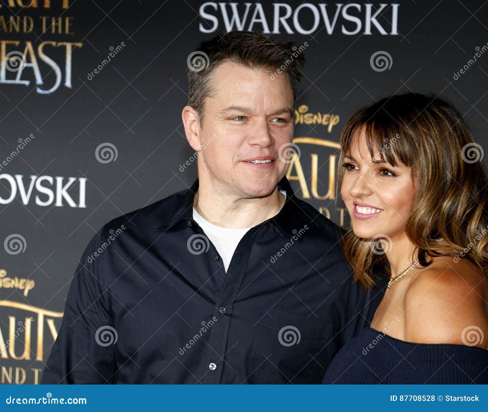 Matt Damon et Luciana Barroso