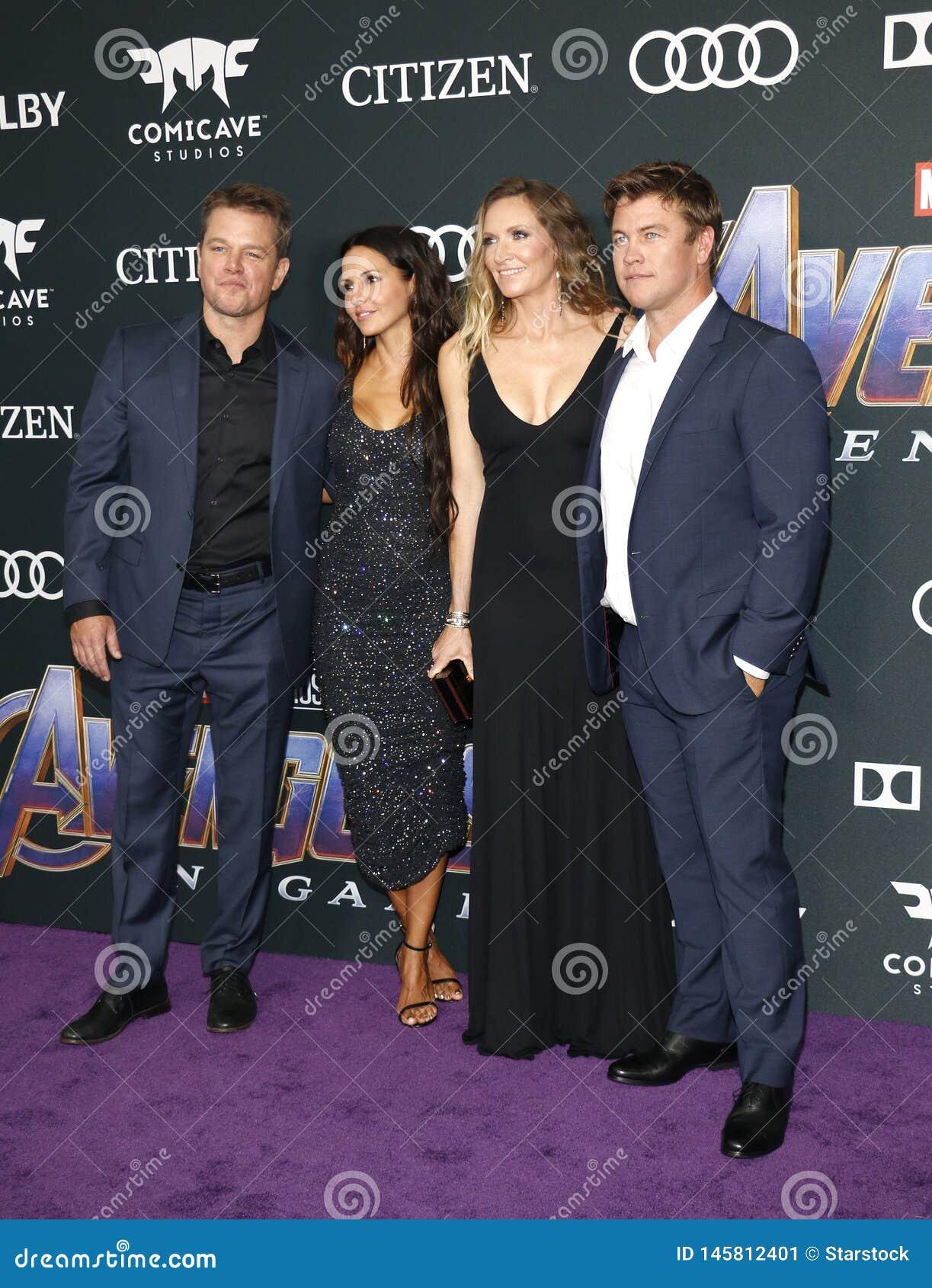Matt Damon, Luciana Damon, Samantha Hemsworth, Luke Hemsworth