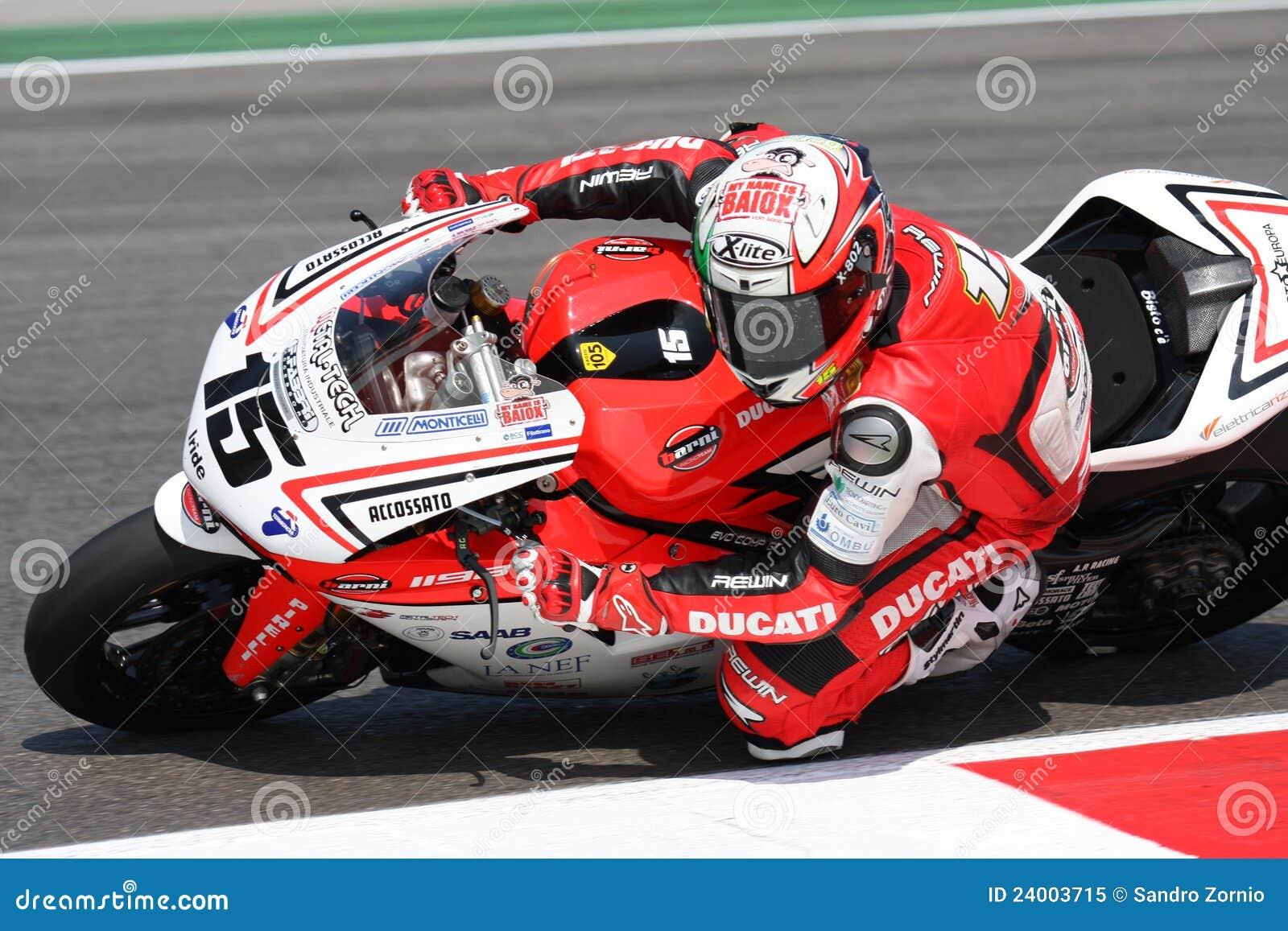 Matteo Baiocco Ducati 1098R Barni che corre squadra