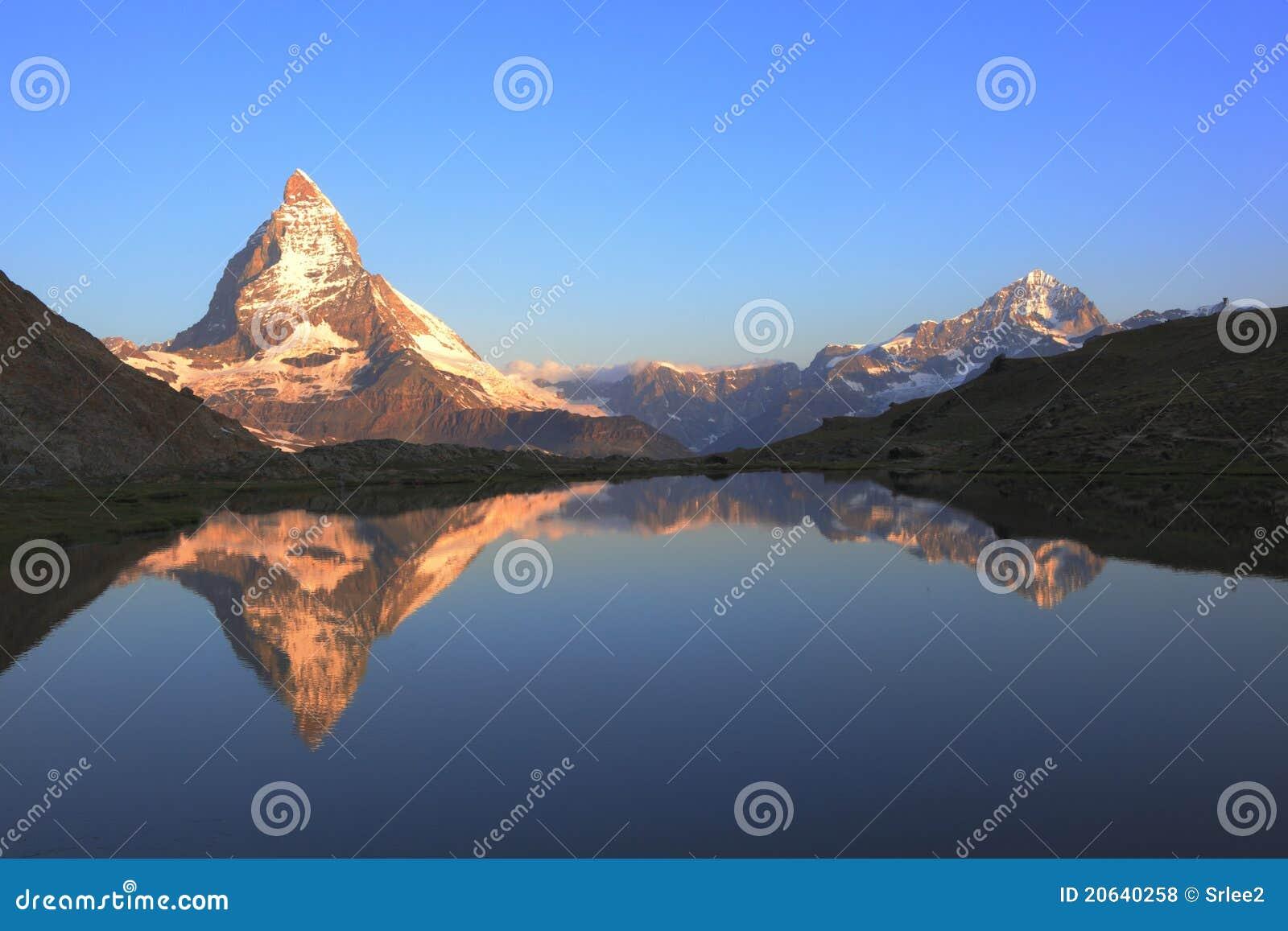 Matterhorn peak and reflection