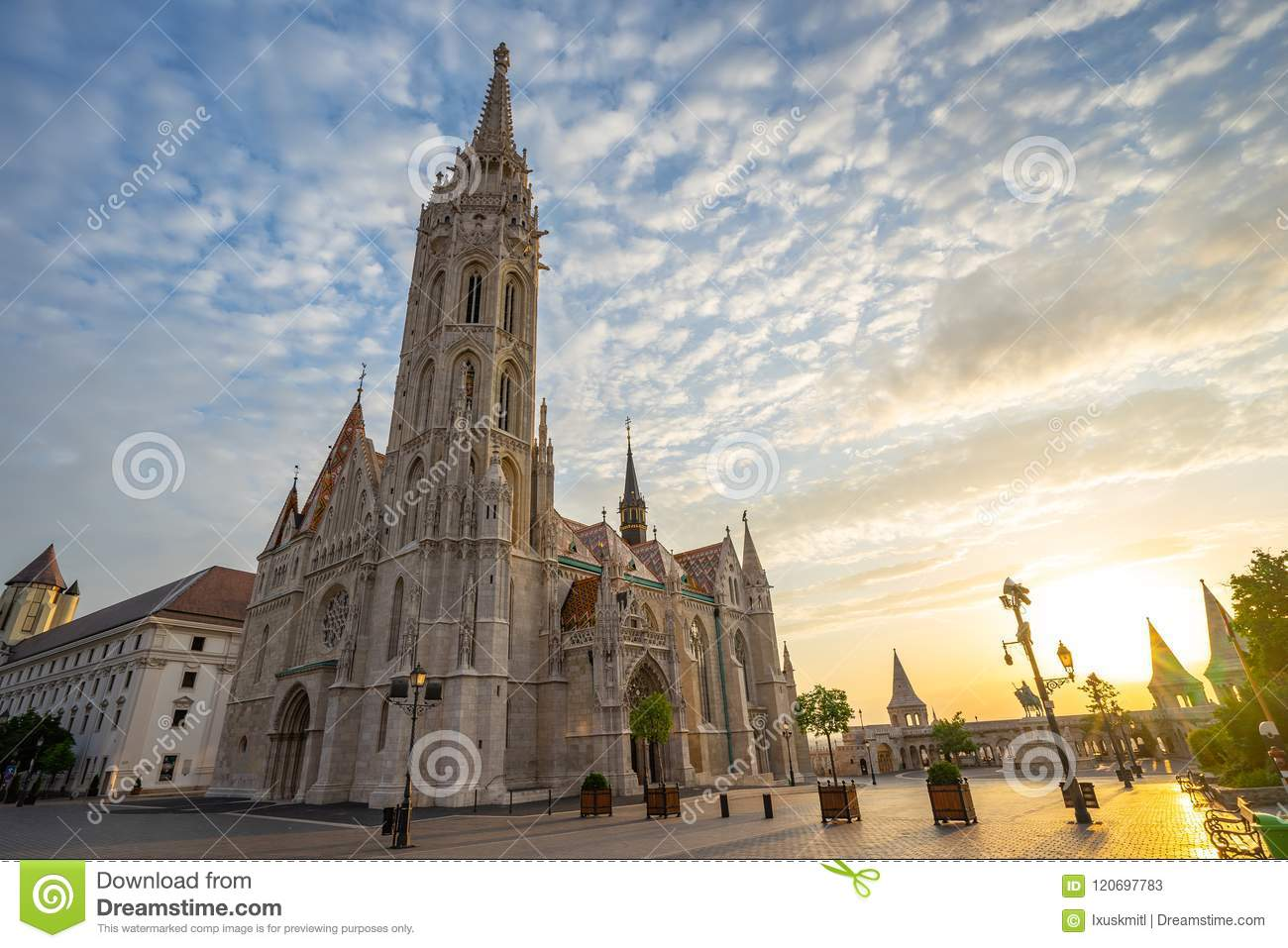 Matthias Church on the Buda bank of the Danube in Budapest city, Hungary
