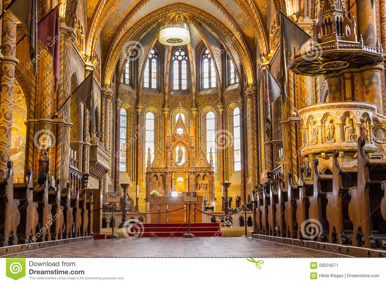 Matthias church in Budapest the capital city of