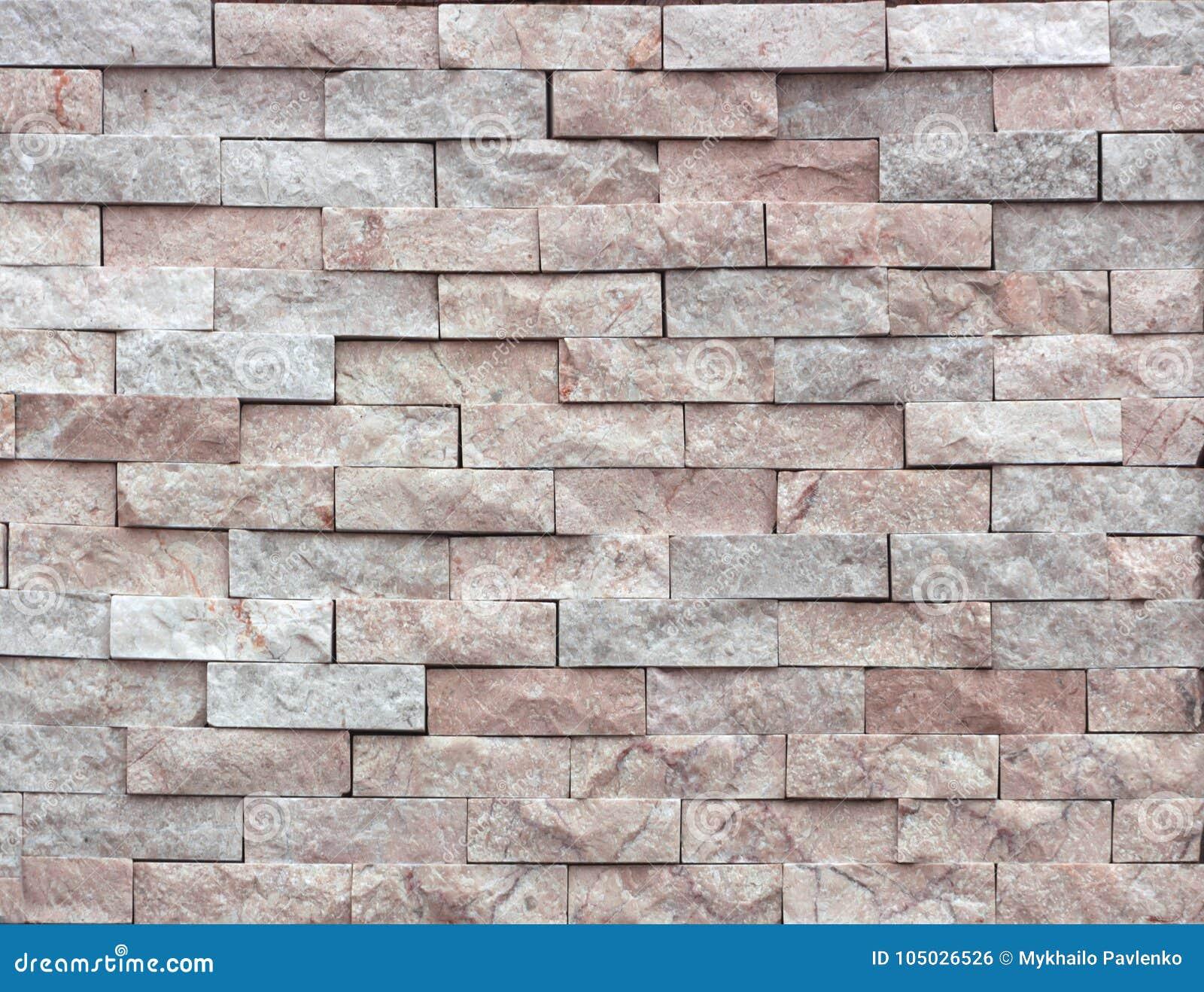 Mattone decorativo di struttura di marmo mattonelle della parete fatte della pietra naturale - Mattonelle da parete ...