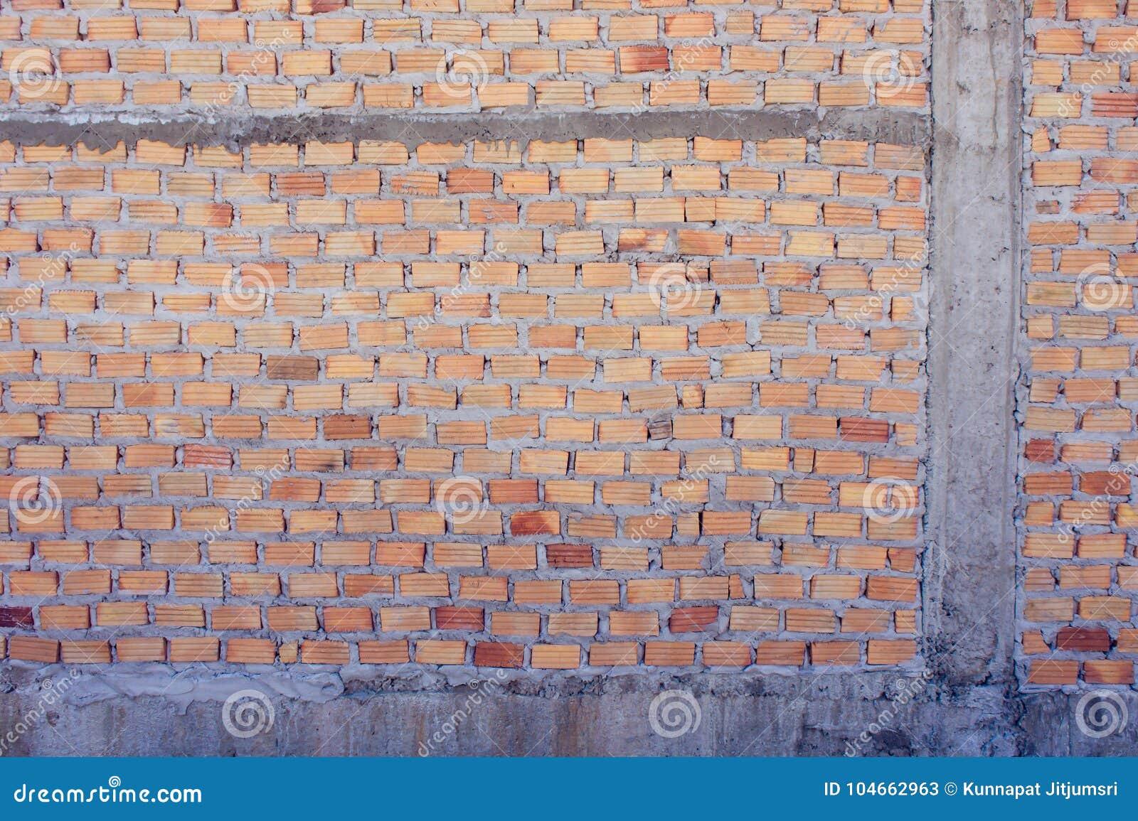 Mattone Rosso Del Muro Di Mattoni Rosso Per Costruire Una Parete Per
