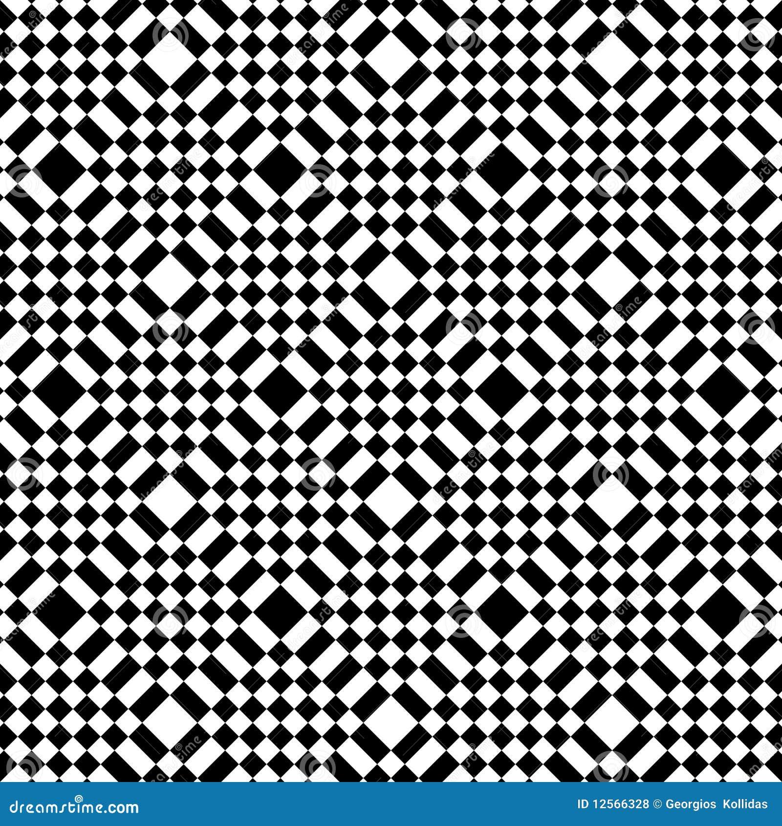 mattonelle in bianco e nero astratte illustrazione di stock