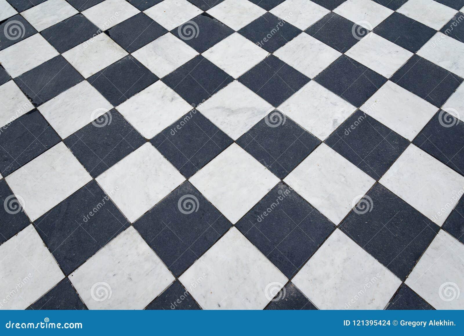 Pavimento a scacchi bianco e nero pavimento a scacchi bianco e