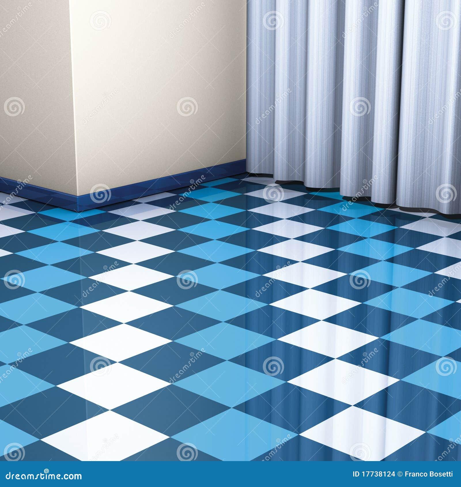 Top Mattonelle Di Pavimento Blu Illustrazione di Stock - Immagine  HK01