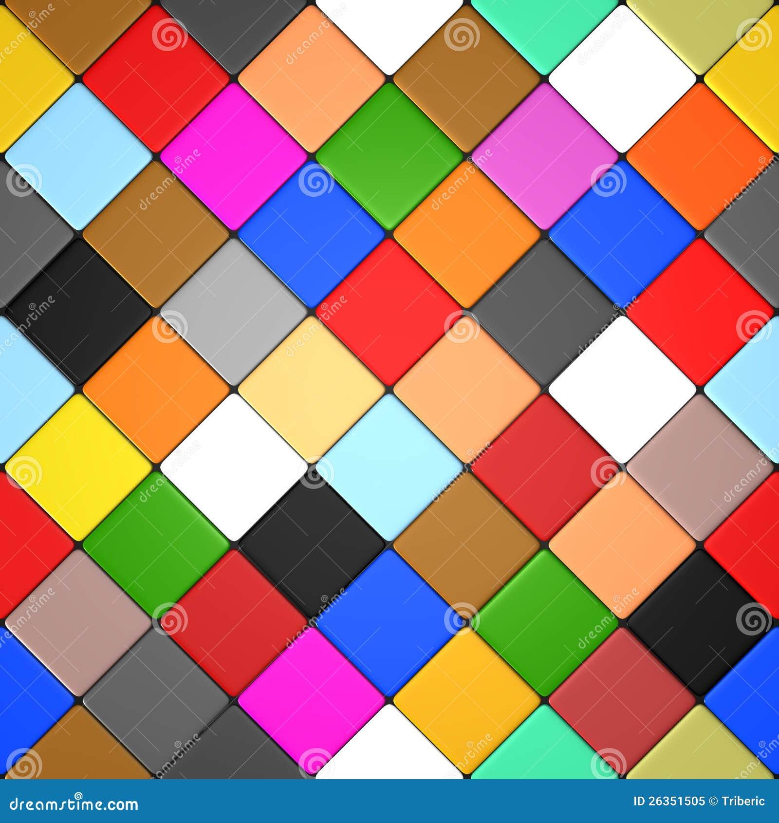 mattonelle colorate del diamante fotografia stock libera On mattonelle colorate